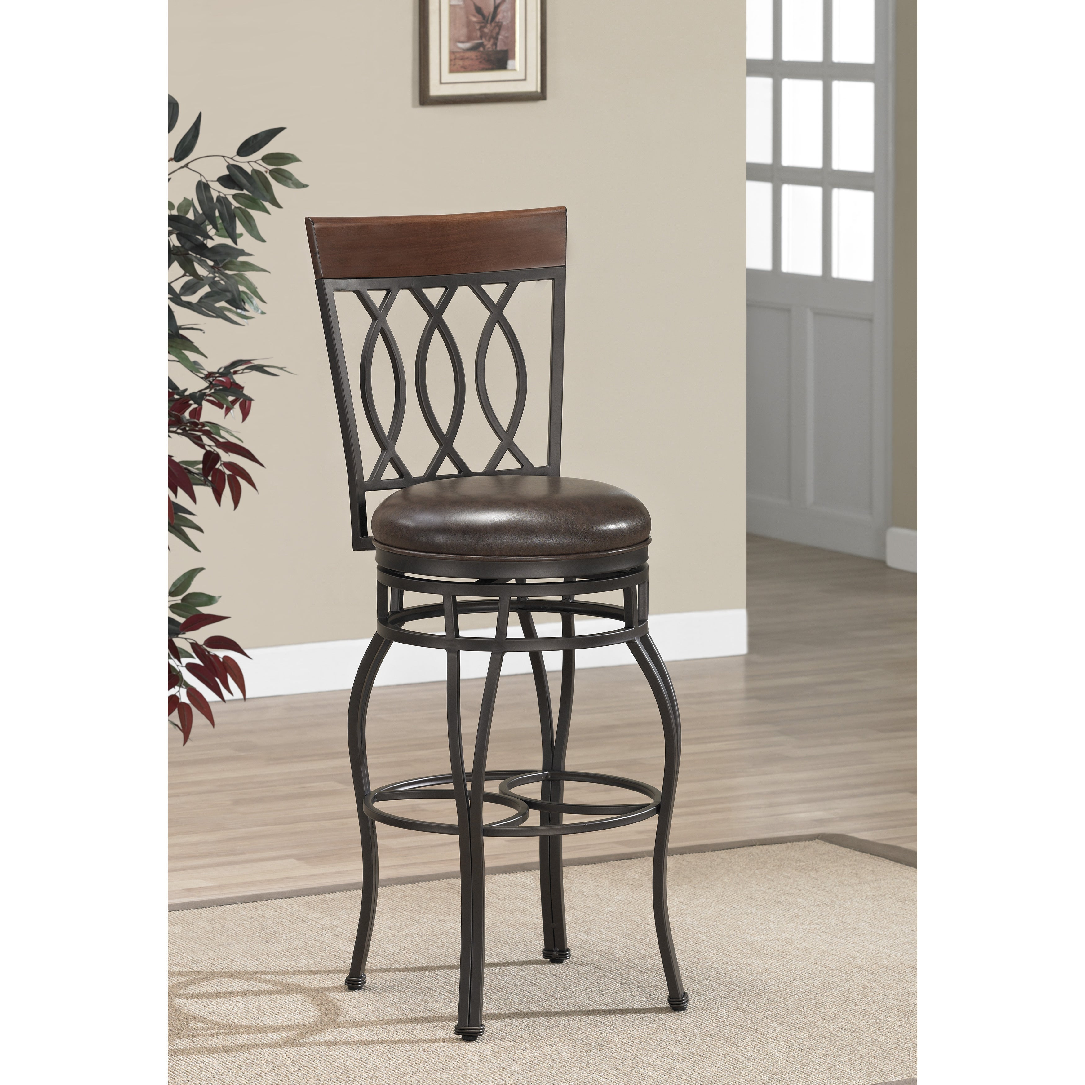 Shop gracewood hollow fitzgerald 34 inch swivel bar stool free shipping today overstock com 20000624
