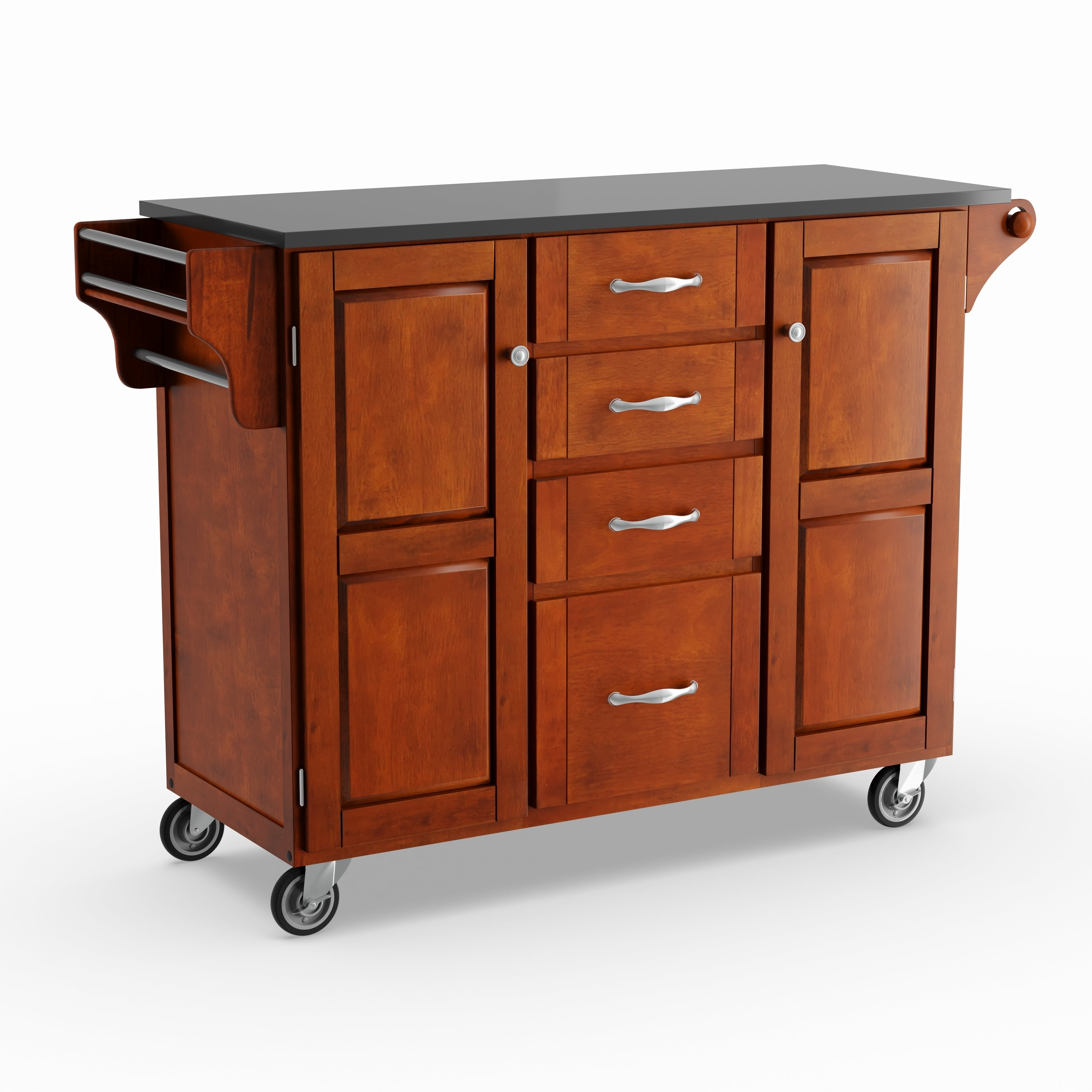 Beau Shop Gracewood Hollow Defoe Cherry Finish Black Granite Top Kitchen Cart    On Sale   Free Shipping Today   Overstock.com   20000637