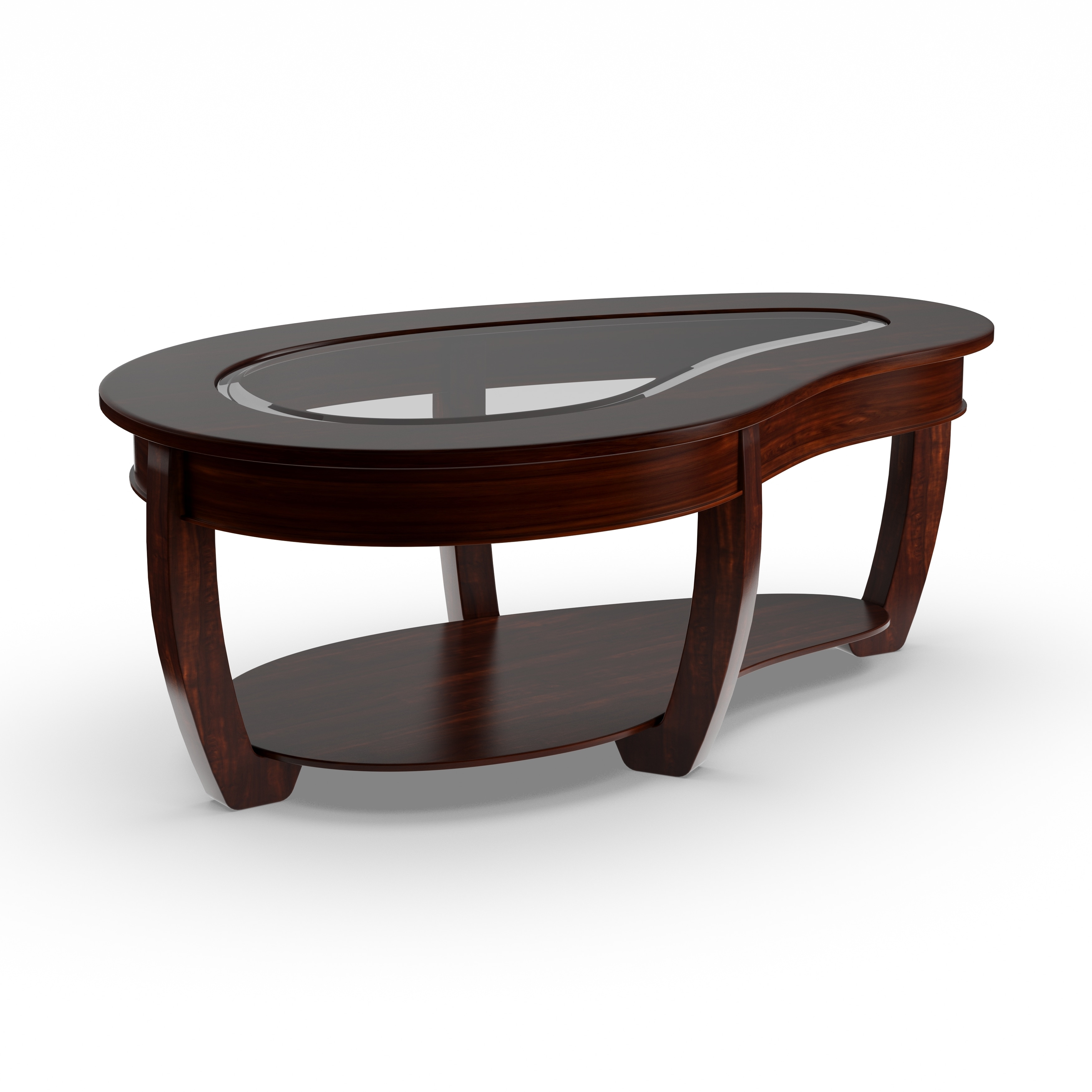 Shop Gracewood Hollow Paolini Curved Dark Cherry Glass Top Coffee Table    On Sale   Free Shipping Today   Overstock.com   20000828