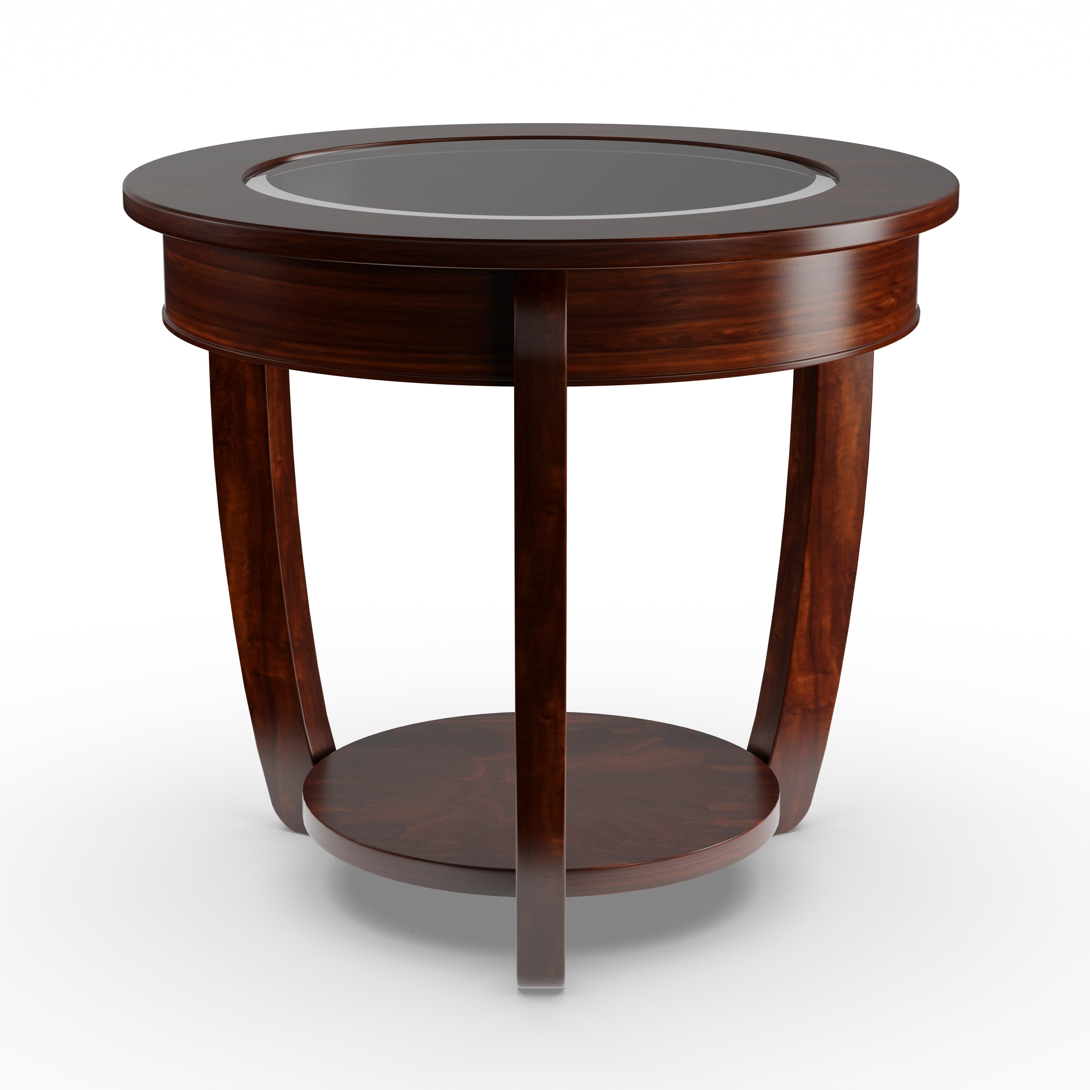 Exceptionnel Shop Gracewood Hollow Eddings Curved Dark Cherry End Table   Free Shipping  Today   Overstock.com   20000870