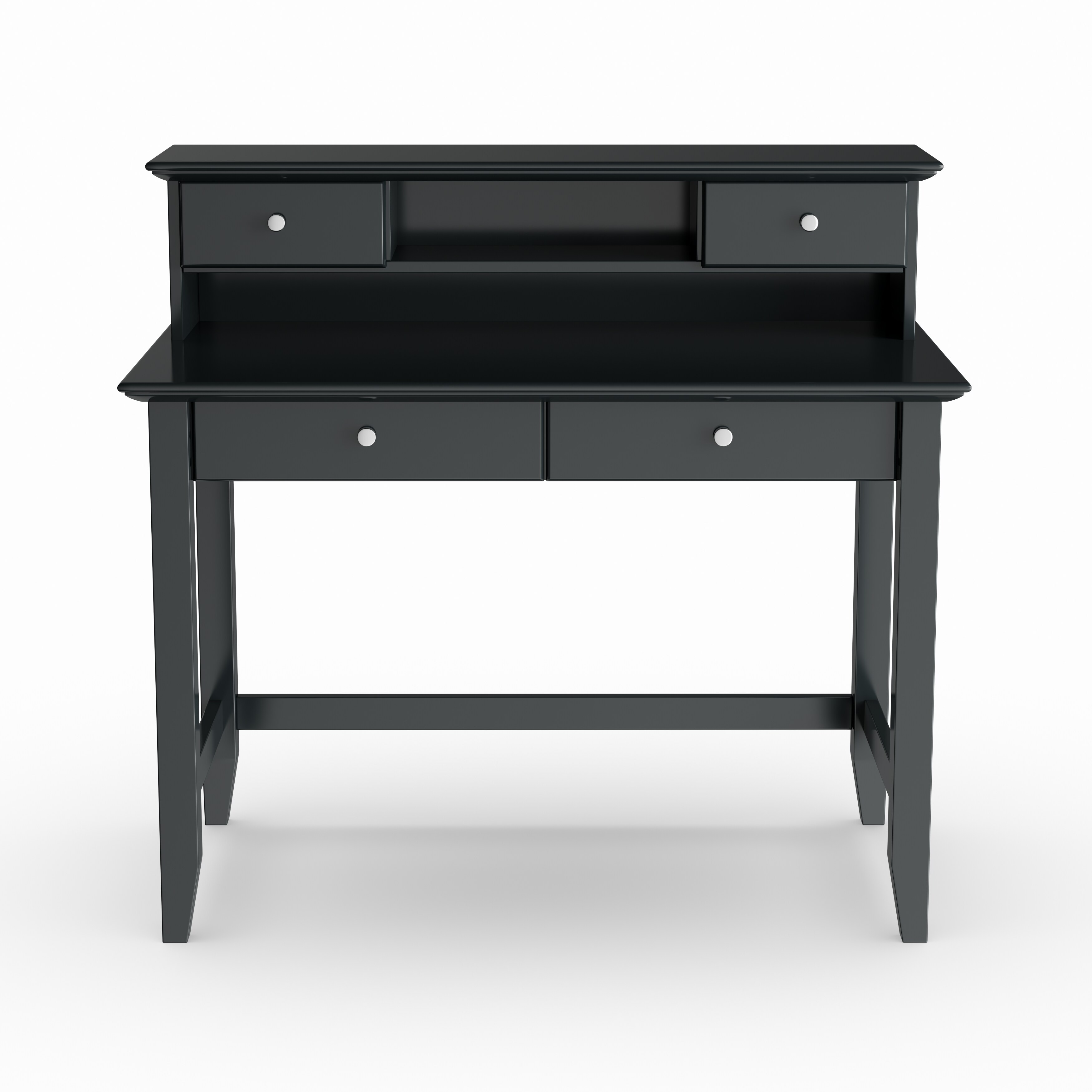 Gracewood Hollow Antoine Black Student Desk And Hutch On Free Shipping Today 20000892