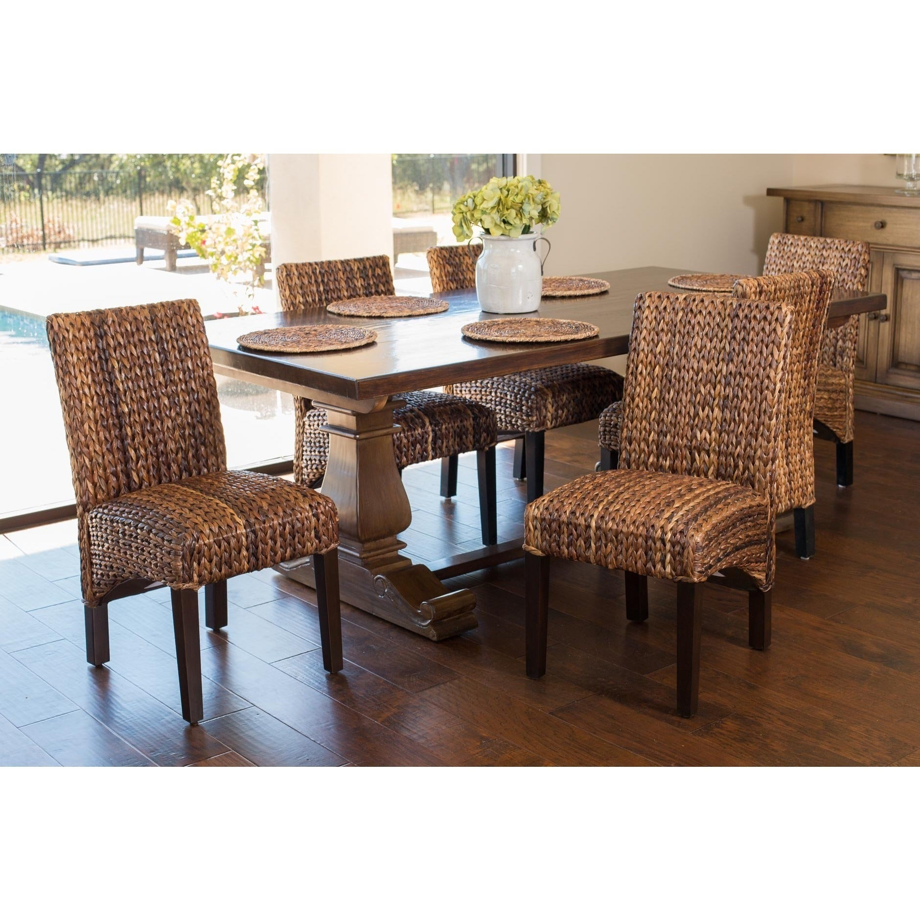 Shop Gracewood Hollow Hemingway Seagrass Dining Chair (Set Of 2)   Free  Shipping Today   Overstock.com   20000905