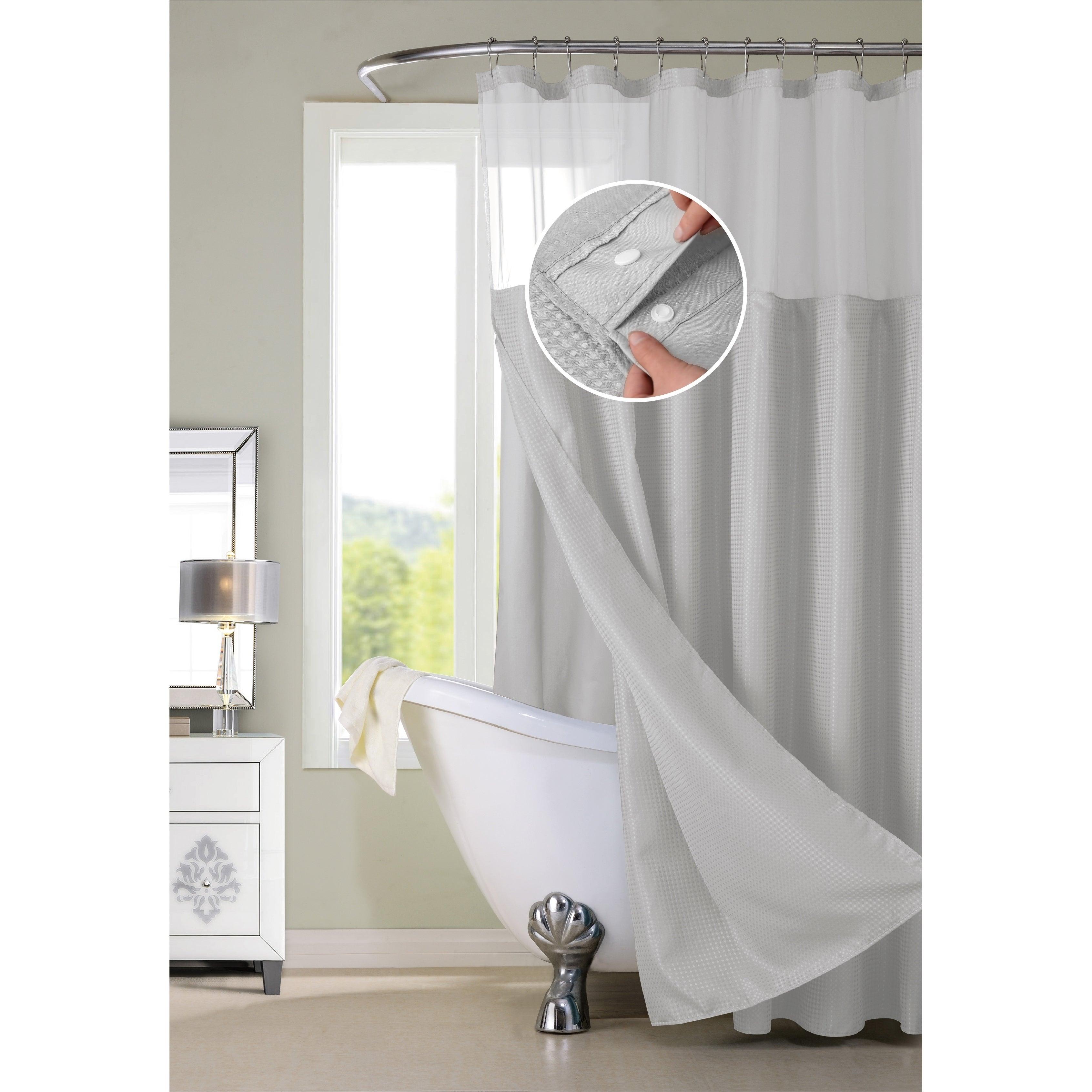 Shop Porch Den Roycroft Hotel Shower Curtain With Detachable Liner