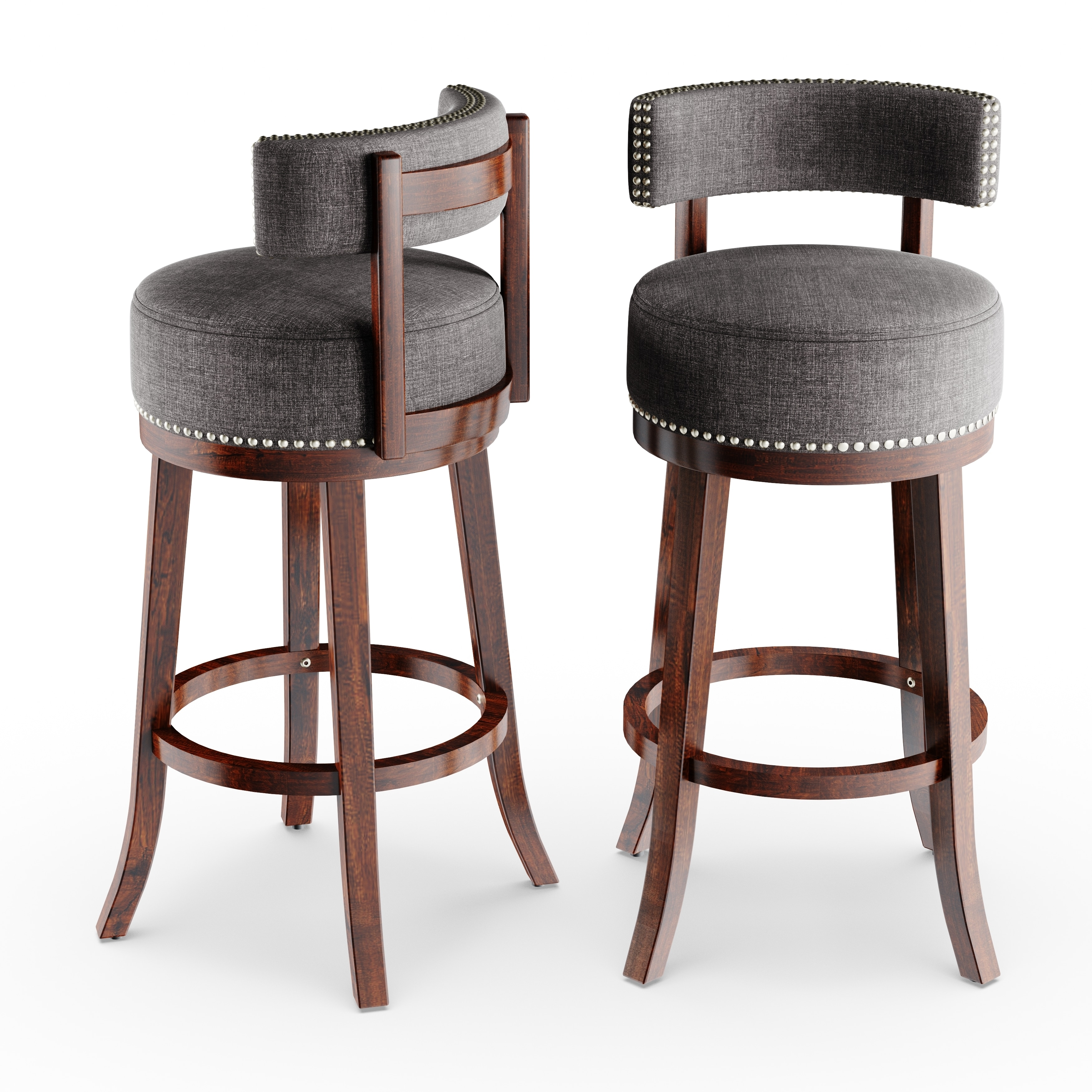 Shop gracewood hollow pullman swivel bar stool set of 2 on sale free shipping today overstock com 20000986