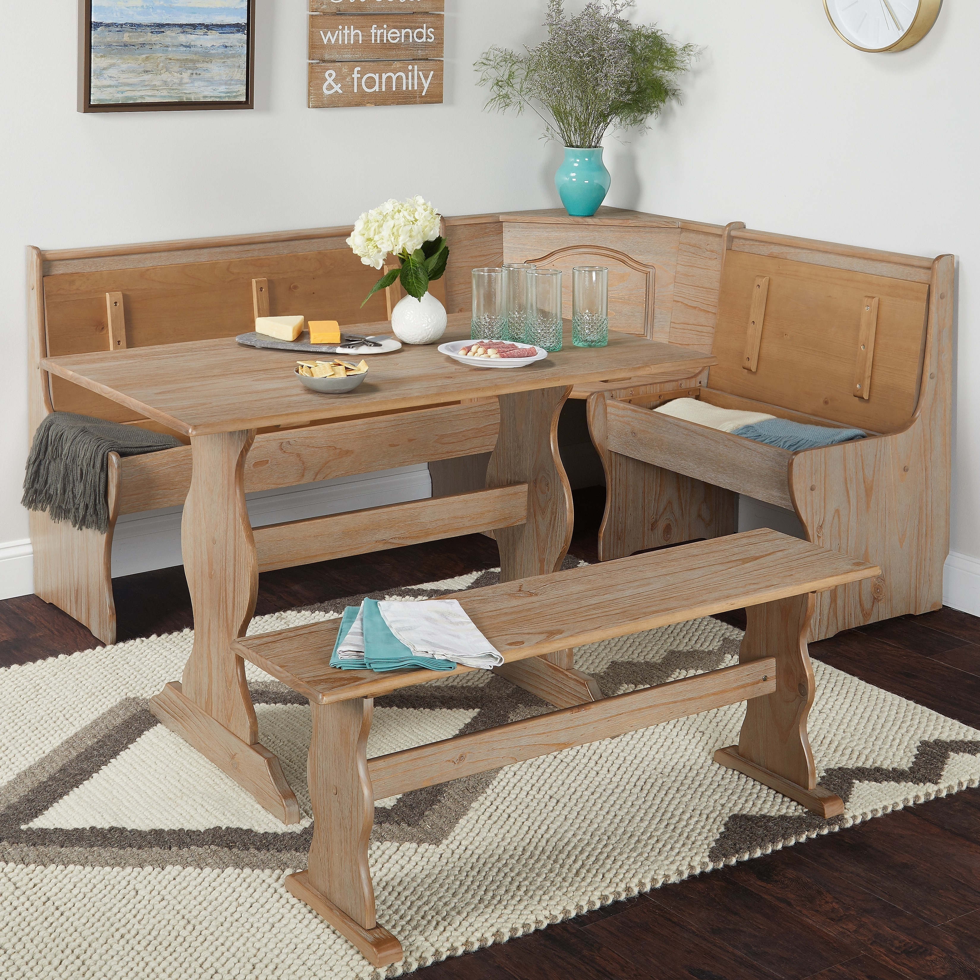 shop simple living knox 3 piece nook set free shipping today rh overstock com simple dining room table centerpieces simple dining room table christmas decorations