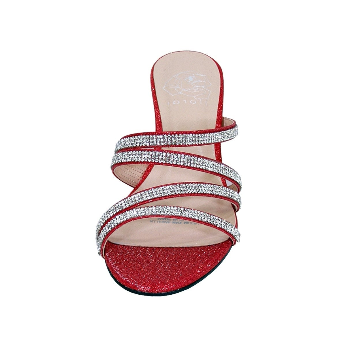 c4277f38006e9c Shop FLORAL Kelly Women Extra Wide Width Rhinestone Slip-On Wedge Sandals -  Free Shipping Today - Overstock - 20005013