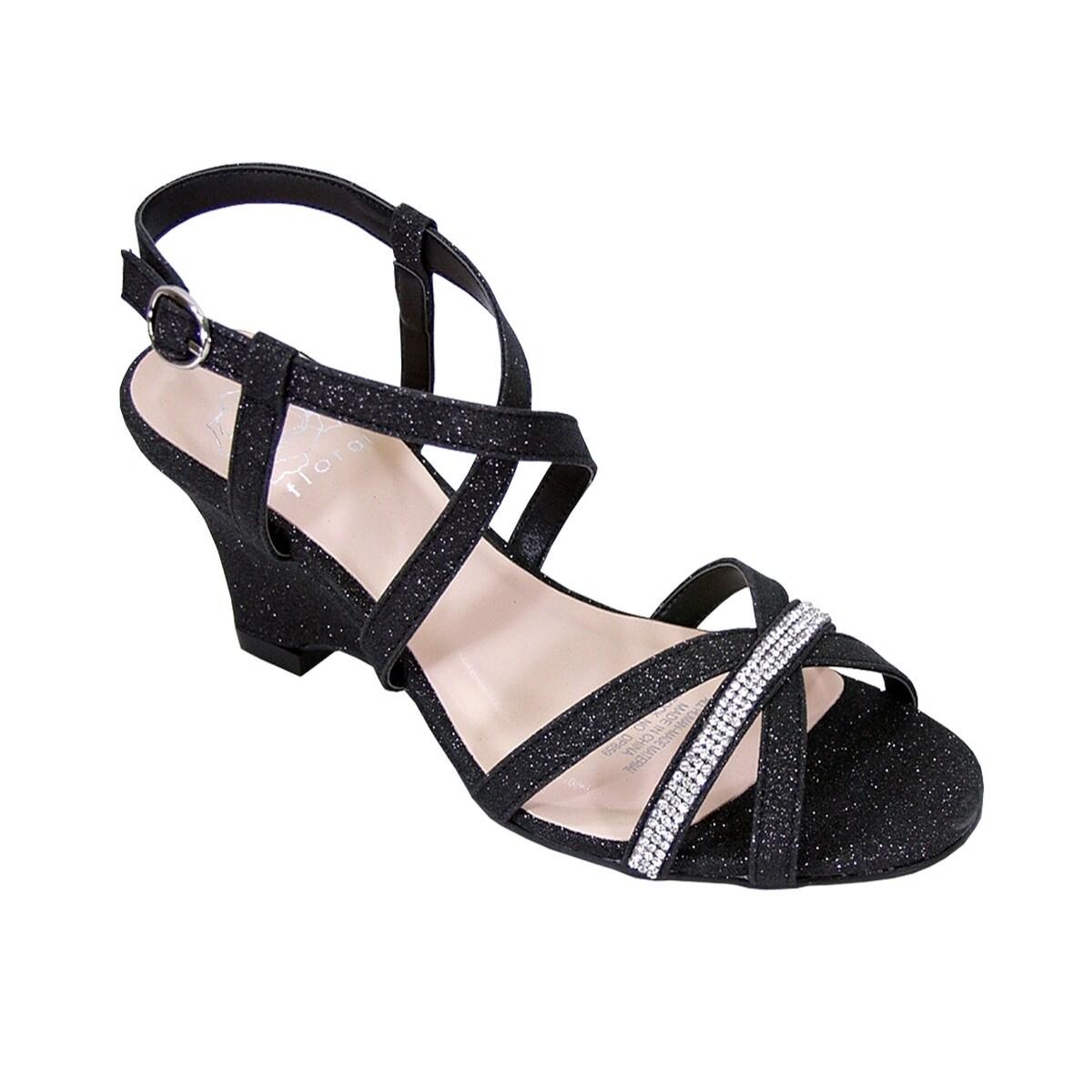 f85b2ff1328e Shop FLORAL Joanne Women Extra Wide Width Rhinestone Straps Wedge ...