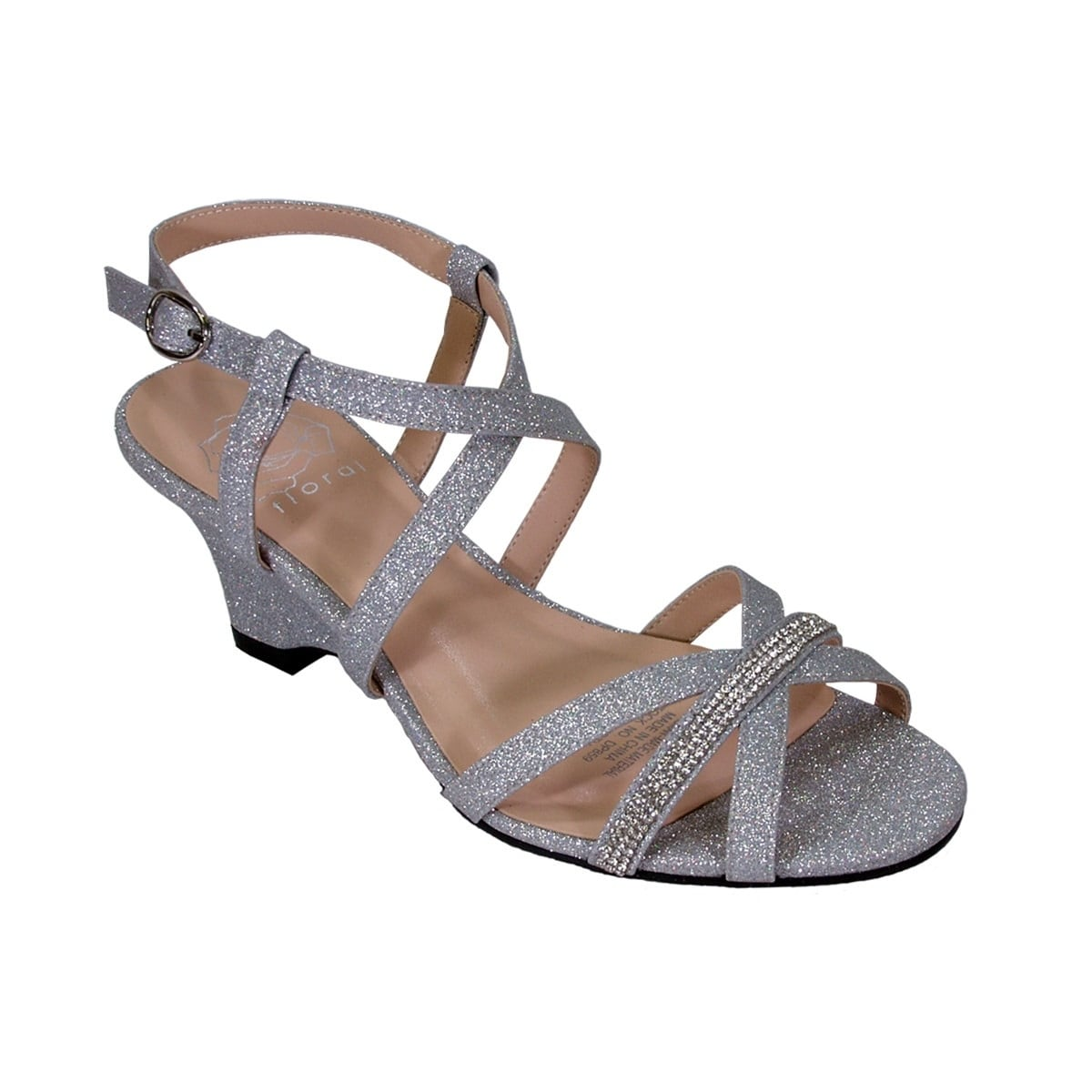 8f0319b8d Shop FLORAL Joanne Women Extra Wide Width Rhinestone Straps Wedge Sandals -  Free Shipping Today - Overstock - 20005072