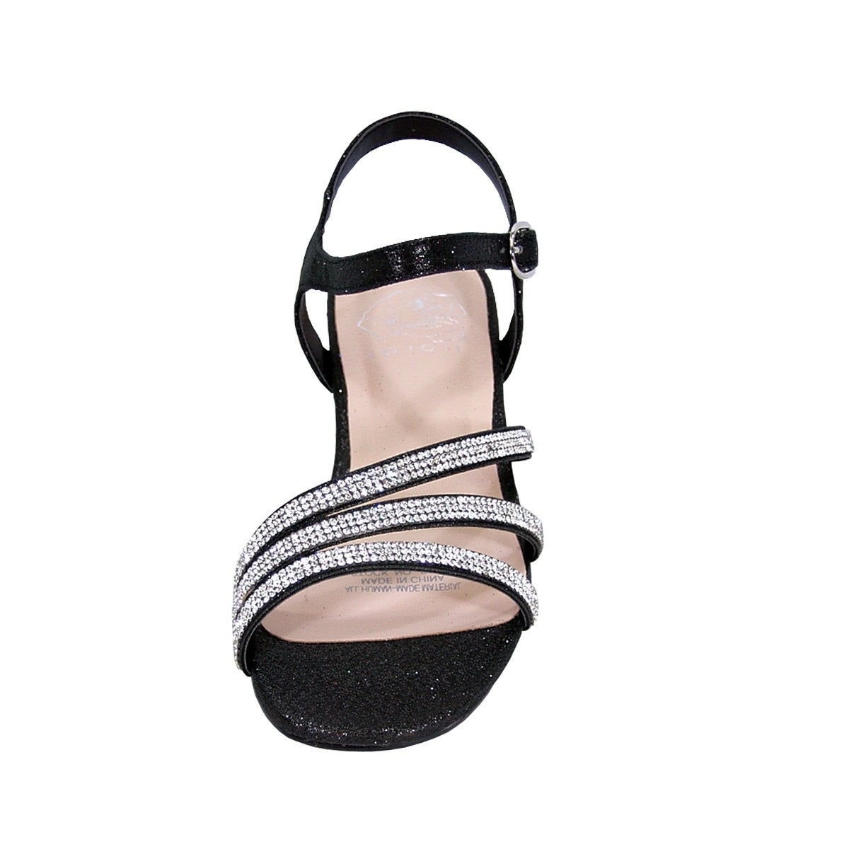 343c255a443c Shop FLORAL Jenna Women Extra Wide Width Glittery Rhinestone Straps Sandals  - Free Shipping Today - Overstock - 20005084