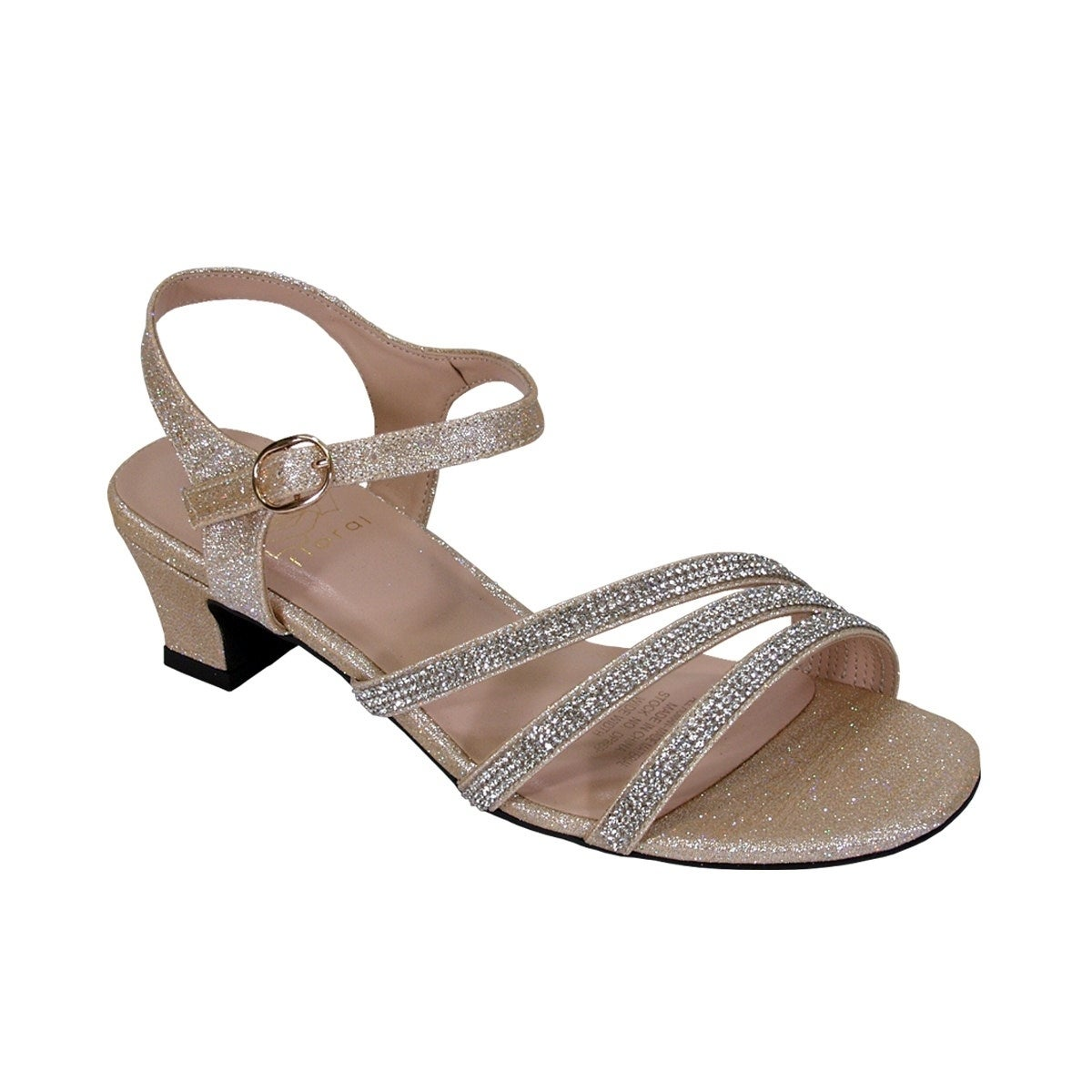 54df55e62cc2 Shop FLORAL Jenna Women Extra Wide Width Glittery Rhinestone Straps Sandals  - Free Shipping Today - Overstock - 20005084