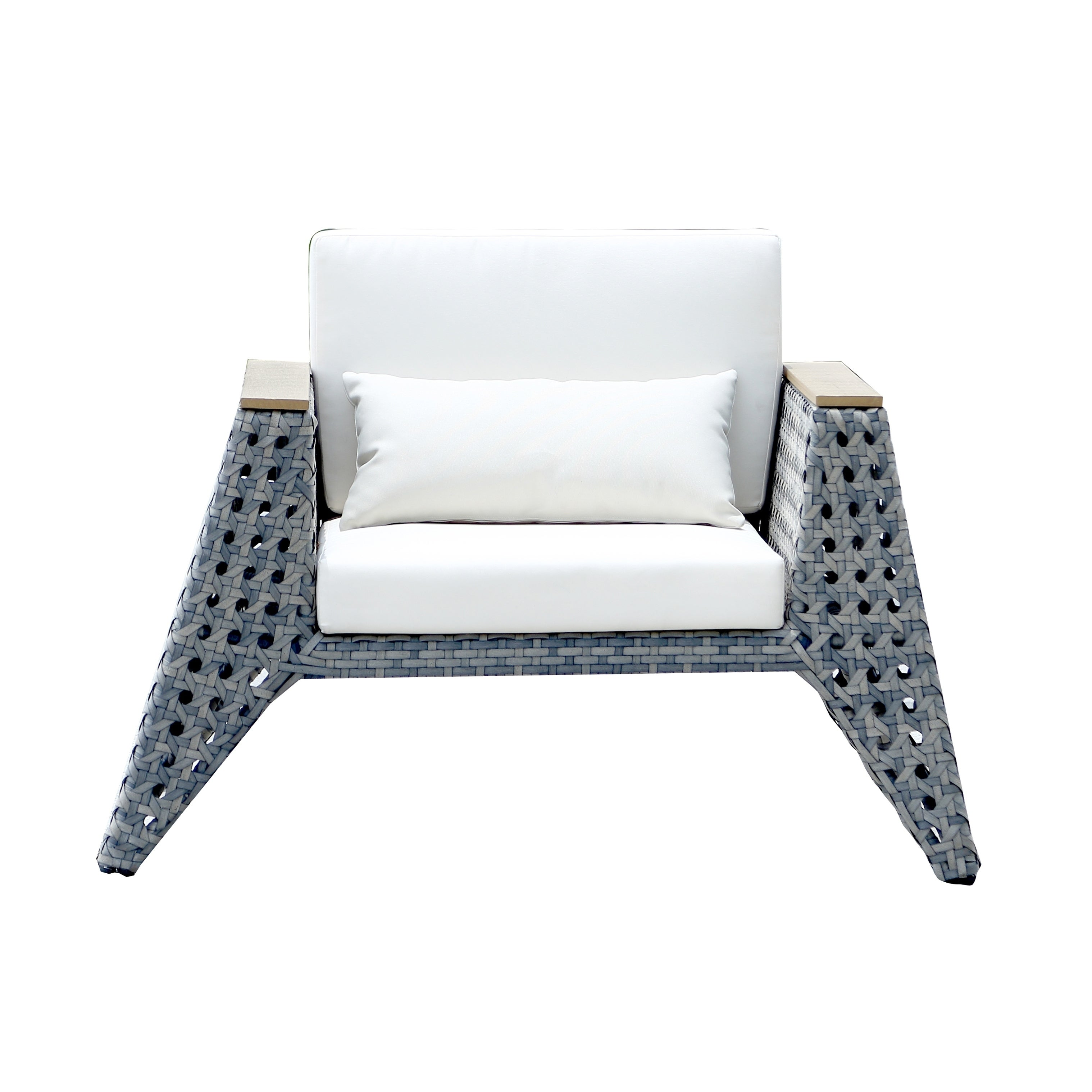Ceets Eiffel Grey PVC Wicker 4 piece Conversation Set Free