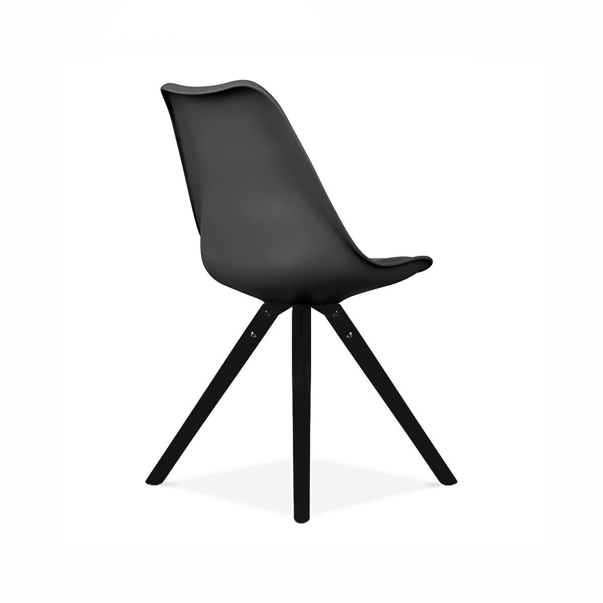 Shop Viborg Black Mid Century Side Chair Black Base (Set Of 2)   Free  Shipping Today   Overstock.com   20006935