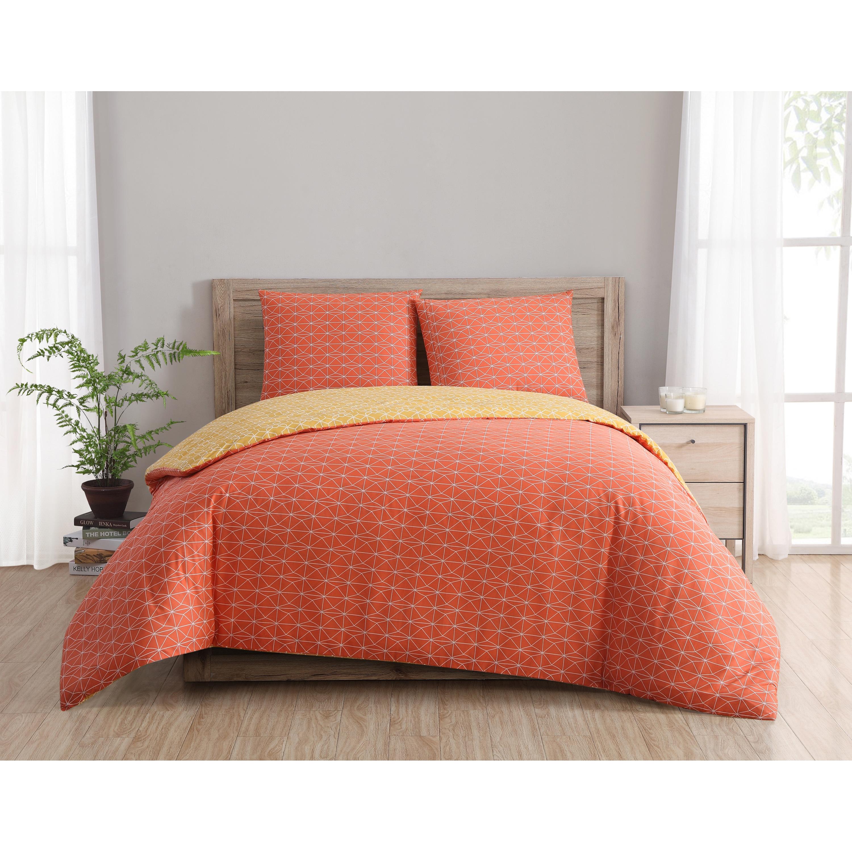 Palm Canyon Sanborn Geometric Reversible 100% Cotton 3 Piece Duvet Set