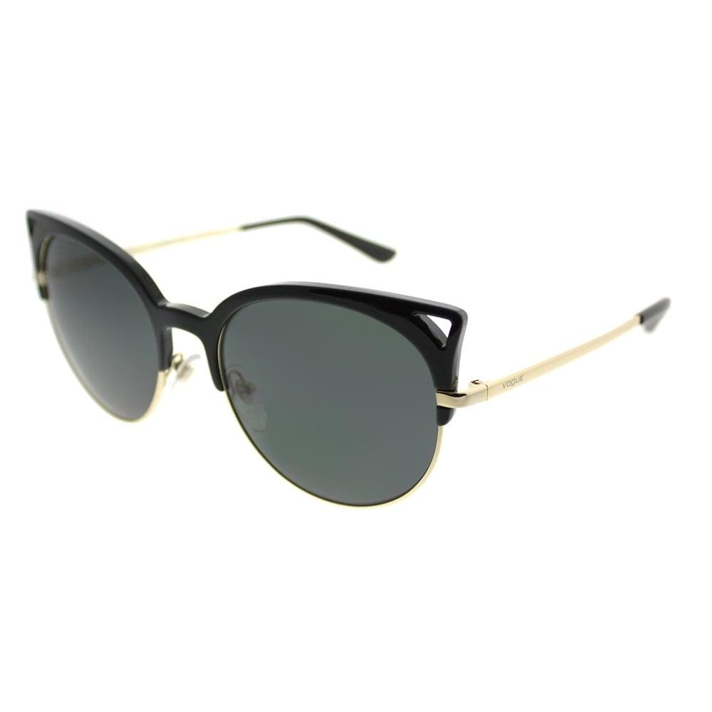 ca1bcaf4ad Shop Vogue Round VO 5137S W44 87 Women Black Frame Grey Lens Sunglasses -  Free Shipping Today - Overstock.com - 20011129