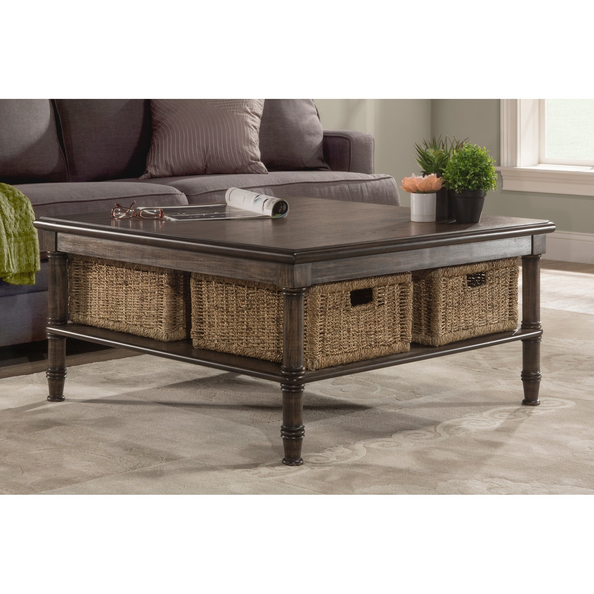 Hillsdale Furniture Seneca Brown Wood Coffee Table Free Shipping