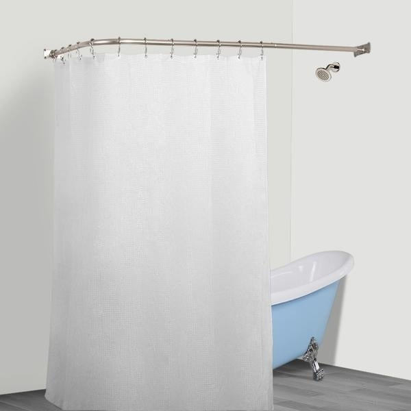 Shop Rustproof L Shaped Corner Shower Curtain Rod