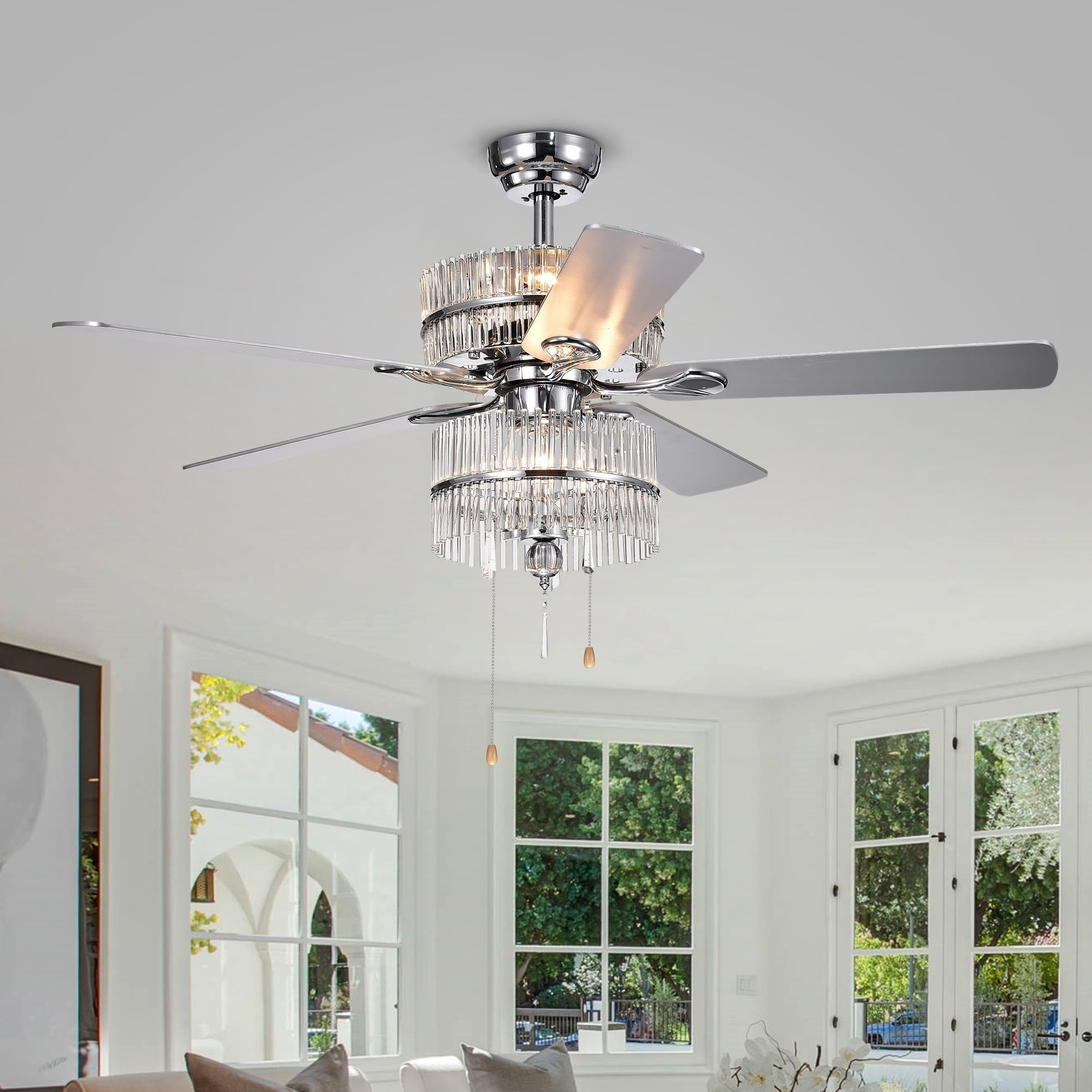 crystal with ceiling fresh combo chandelier bo of fan