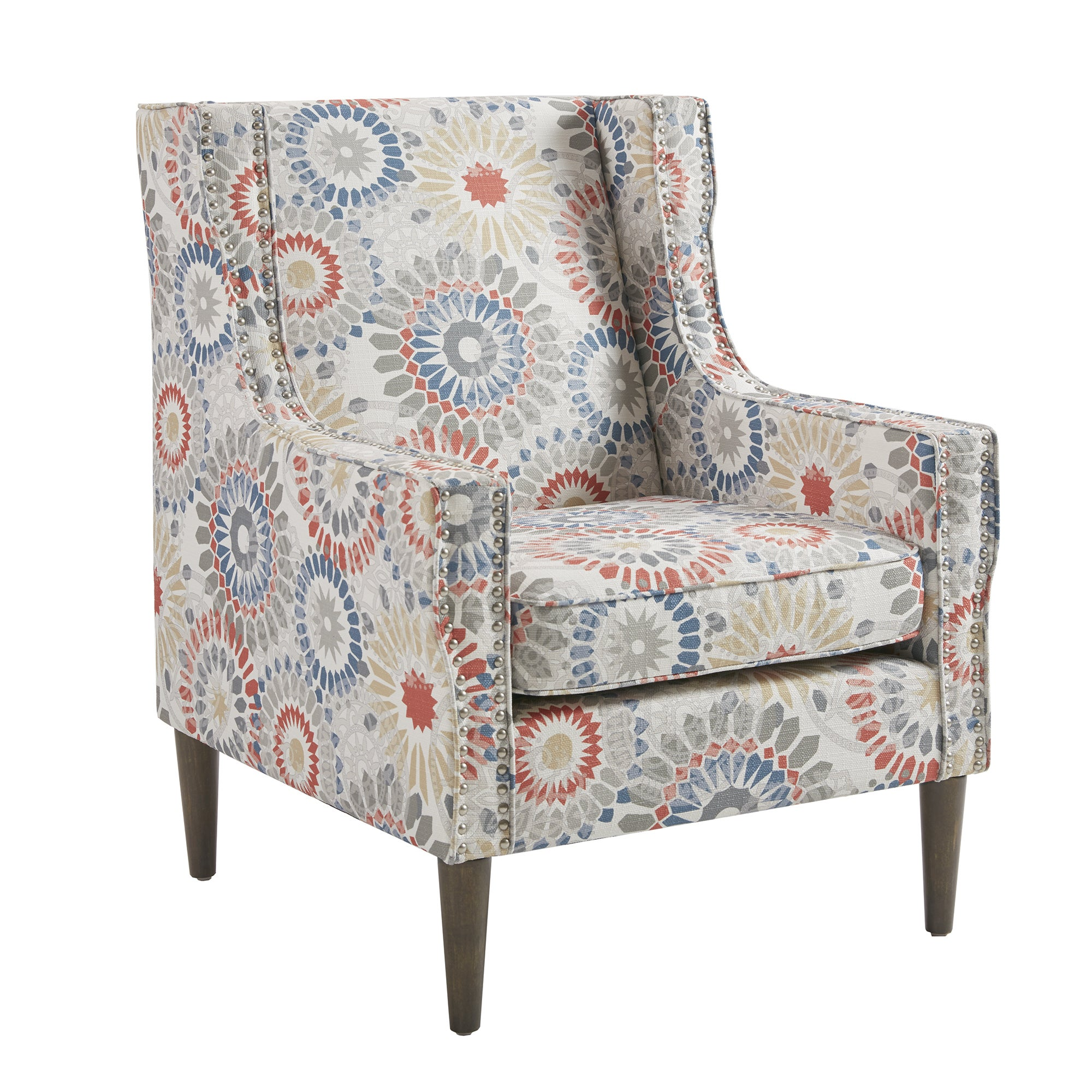 Shop Madison Park Topeka Red Accent Chair   On Sale   Free Shipping Today    Overstock.com   20019199
