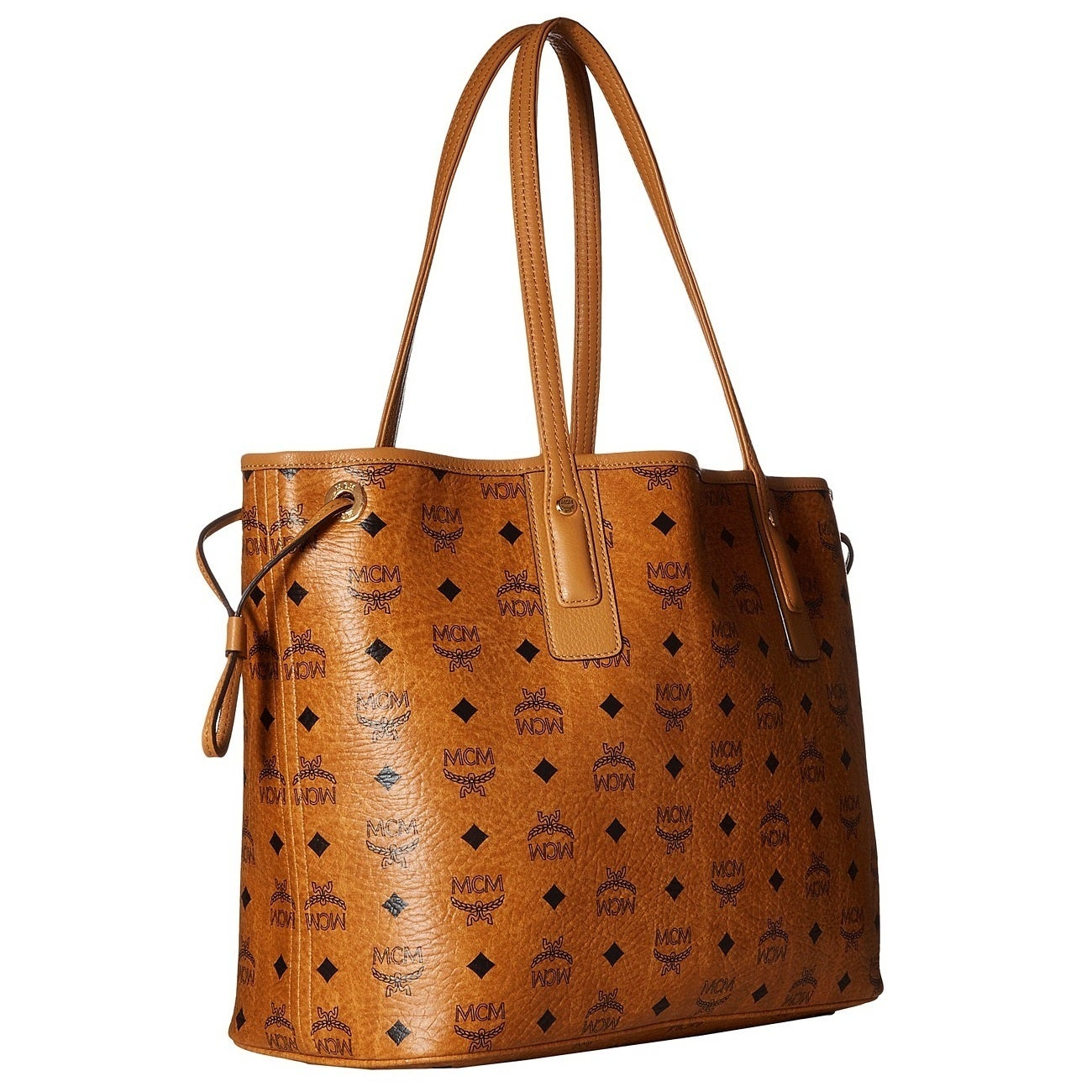 51f67feeb Shop MCM Liz Reversible Medium Cognac Tote Bag - Free Shipping Today -  Overstock - 20027260