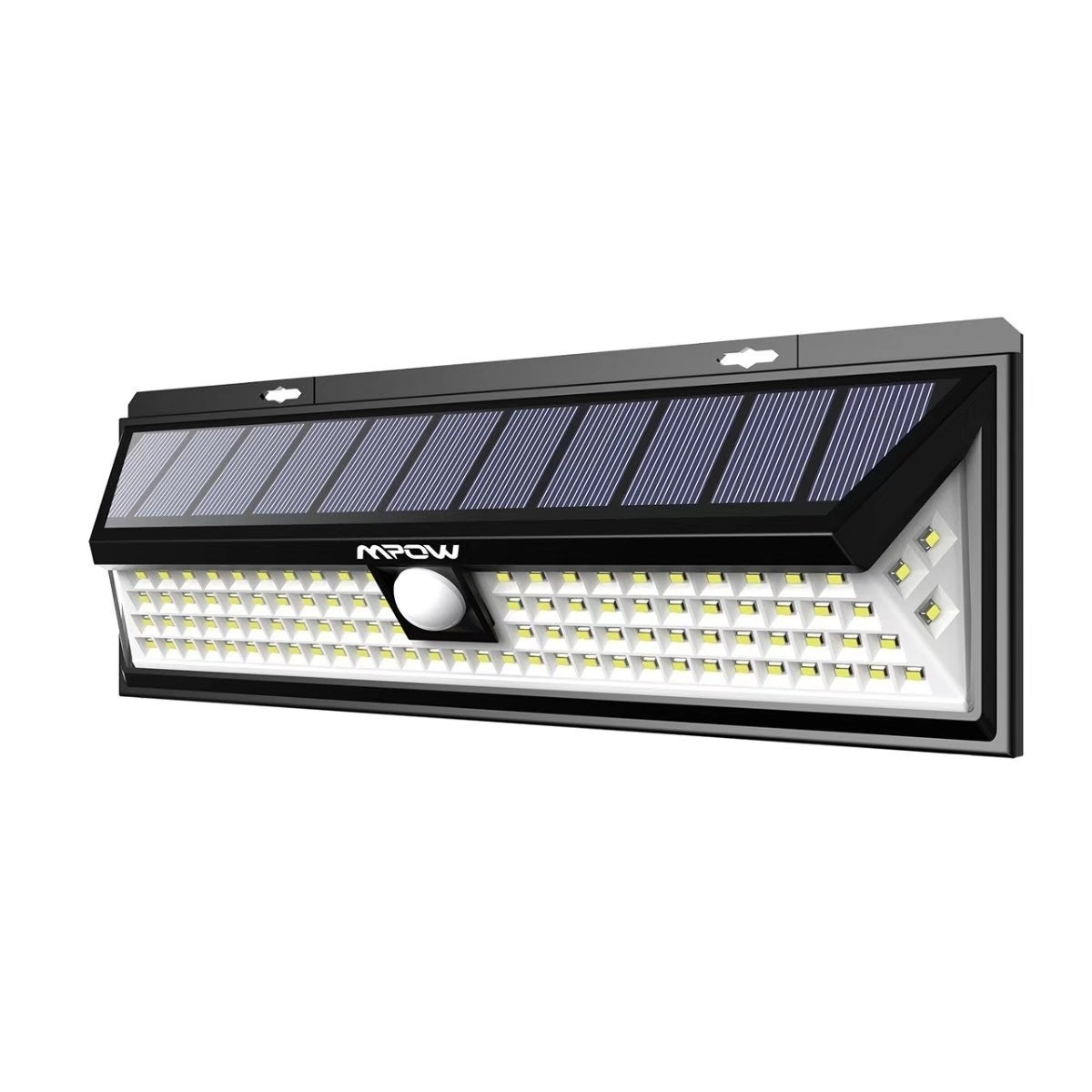 mpow 102 led motion sensor solar light large solar panel outdoor light for  garden driveway yard garage pathway and patio
