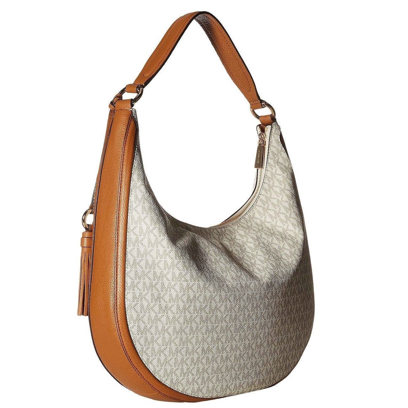 f1ca54c0078e Shop MICHAEL Michael Kors Lydia Signature Large Vanilla Hobo Bag - Free  Shipping Today - Overstock - 20056820