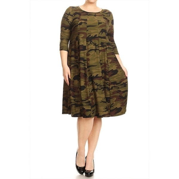 Women\'s Plus Size Camouflage Dress