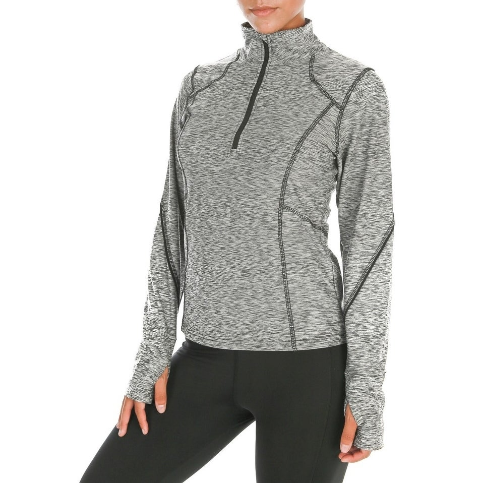 e2ca394bbc Shop Women's Workout Yoga Running Track Jacket Long Sleeve w/ Thumb Hole -  Free Shipping On Orders Over $45 - Overstock - 20062768