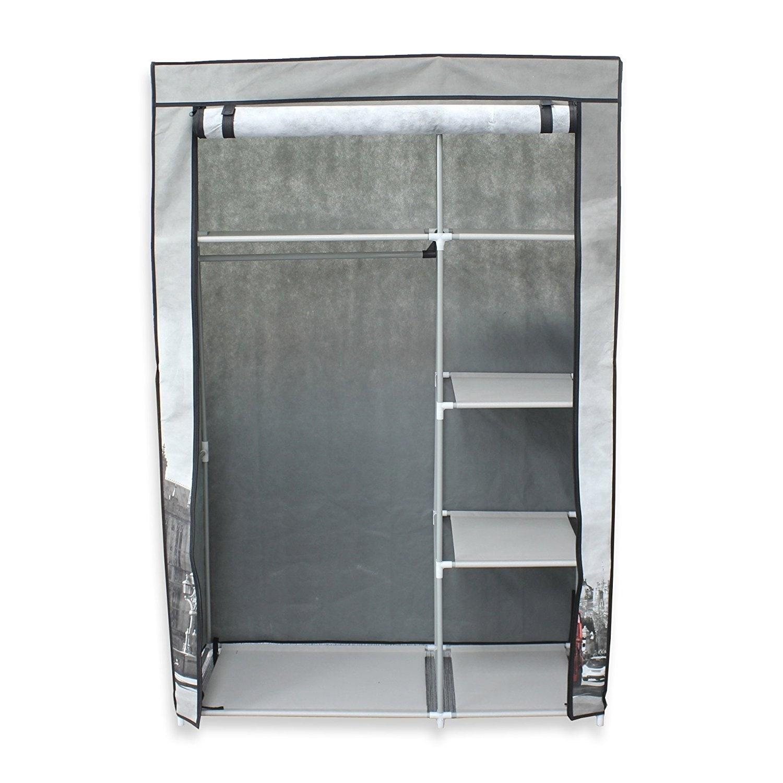 42 Portable Clothes Closet Non Woven Canvas Wardrobe Storage Orangizer 5 Shelves Ben Free Shipping Today 20084950