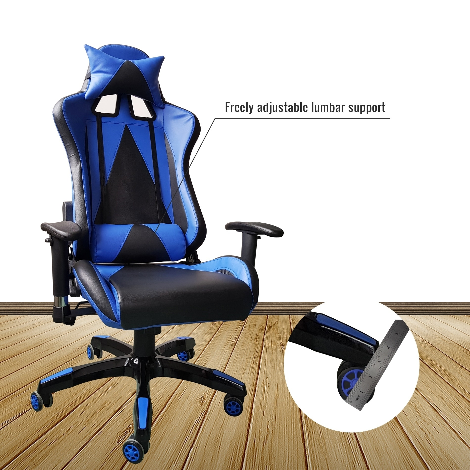 Shop Video Gaming Chair Executive Swivel Racing Style High-Back Office Chair Lumbar Support Ergonomic Wit - On Sale - Free Shipping Today - Overstock.com - ...  sc 1 st  Overstock.com & Shop Video Gaming Chair Executive Swivel Racing Style High-Back ...