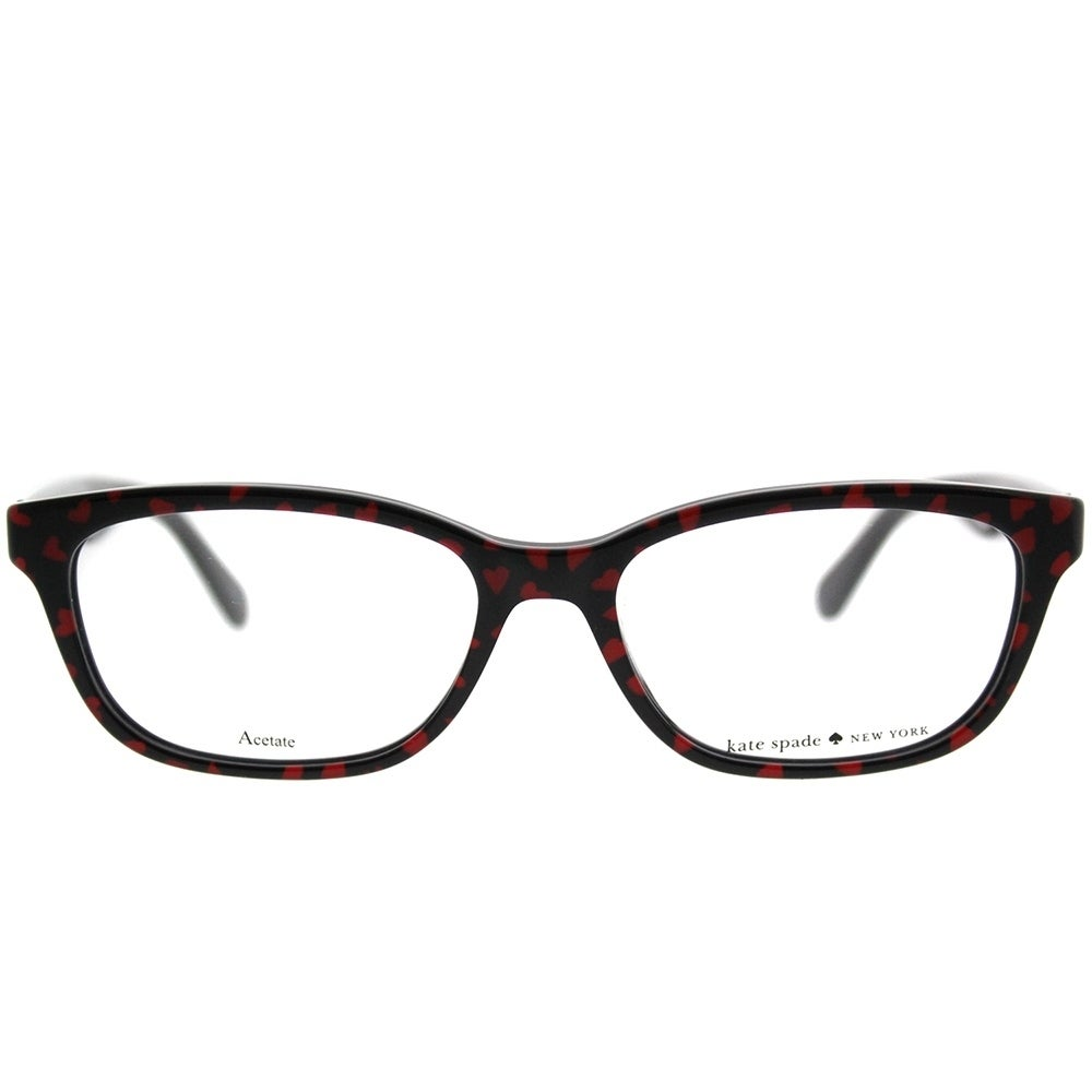 Shop Kate Spade Rectangle KS Brylie 7RM Women Black Red Heart Frame ...