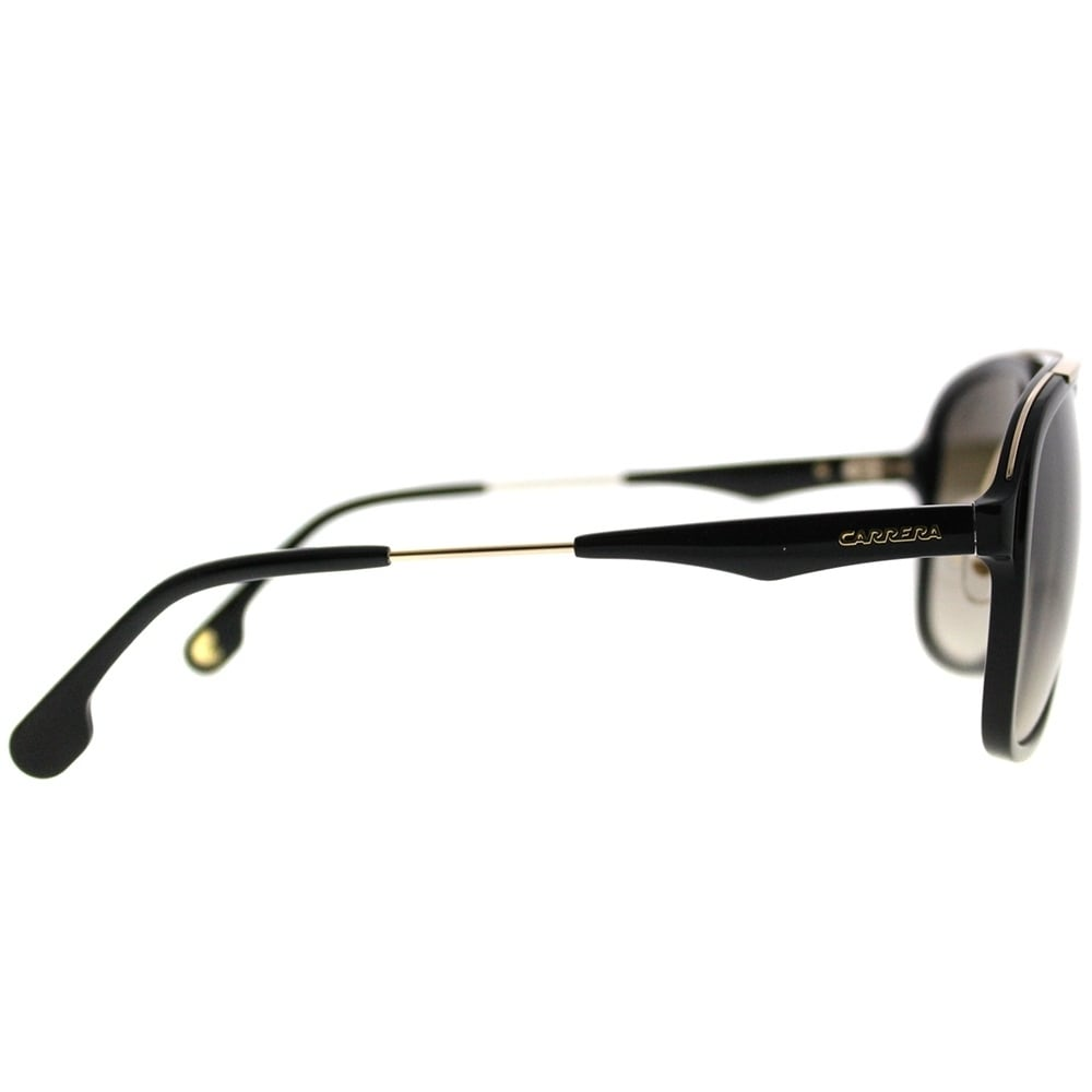 1175849a43a9 Shop Carrera Square Carrera 133/S 2M2 Unisex Black Gold Frame Brown  Gradient Lens Sunglasses - Free Shipping Today - Overstock - 20086507