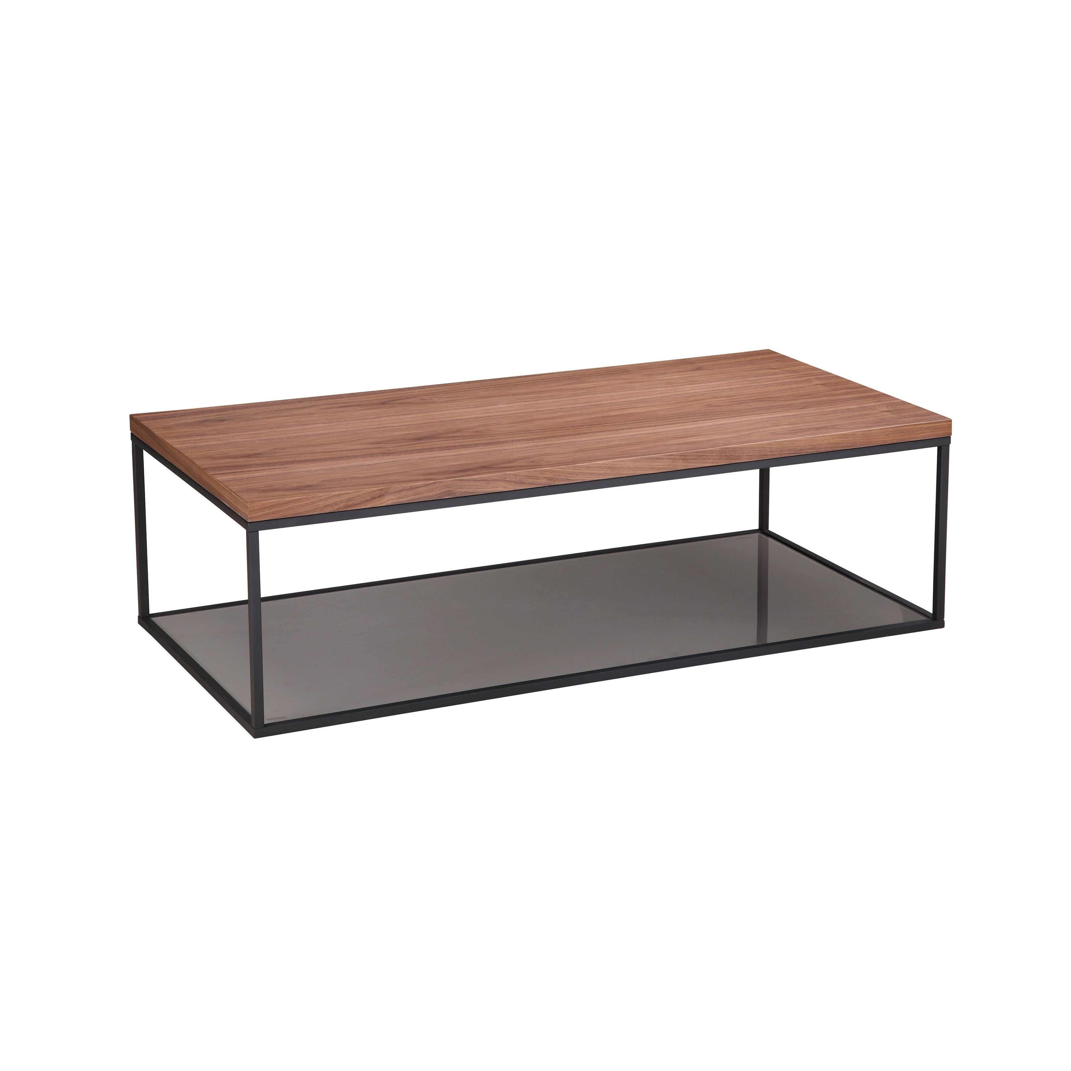Shop Aurelle Home Slim Modern Walnut Coffee Table   Free Shipping Today    Overstock.com   20088126