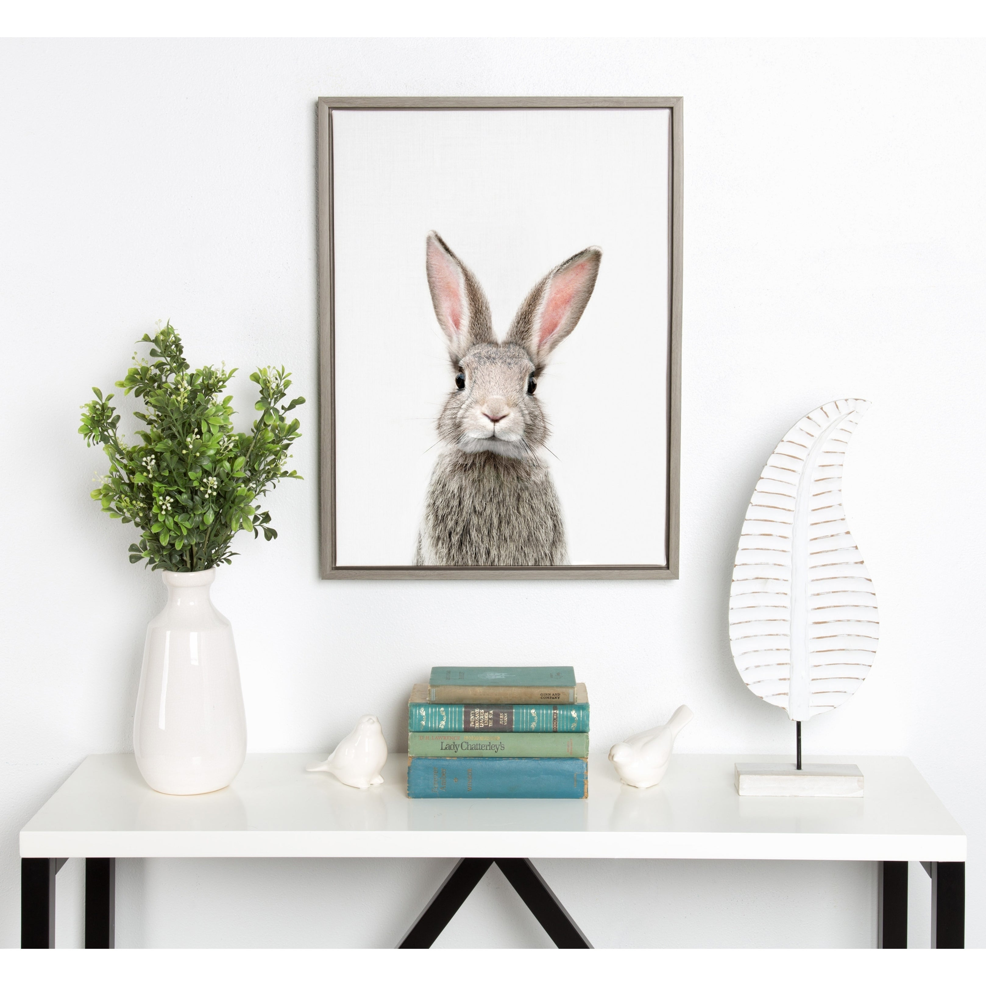 Shop Sylvie F Baby Bunny Rabbit Animal Print Framed Canvas by Amy ...
