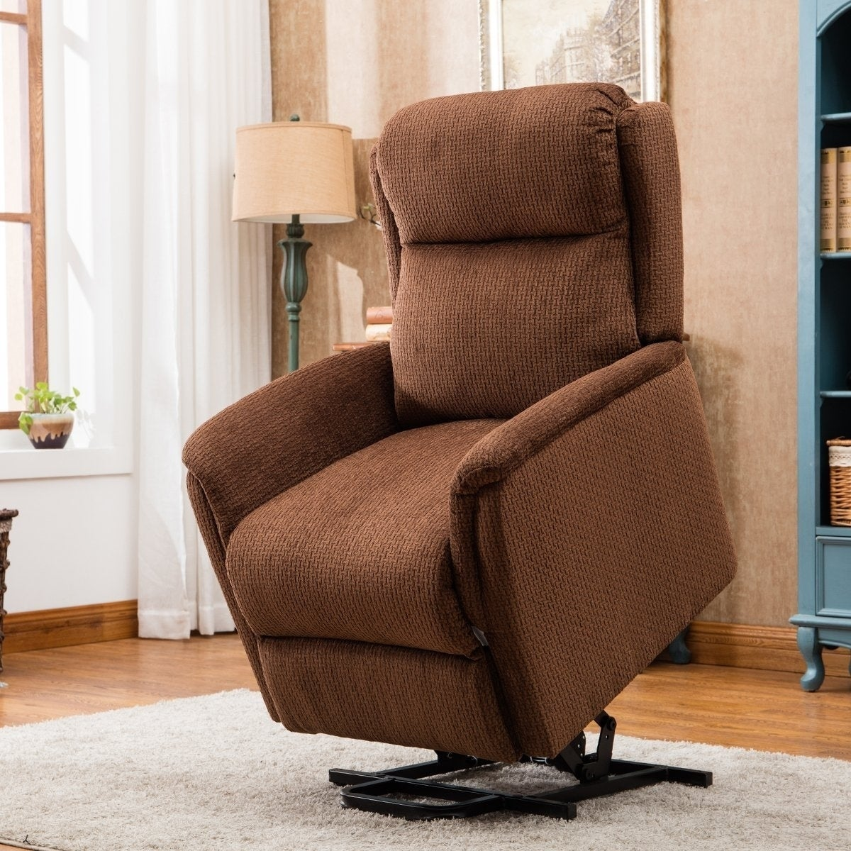remote control recliners. Shop BONZY Lift Recliner Power Chair With Remote Control - CHOCOLATE Free Shipping Today Overstock.com 20098931 Recliners C