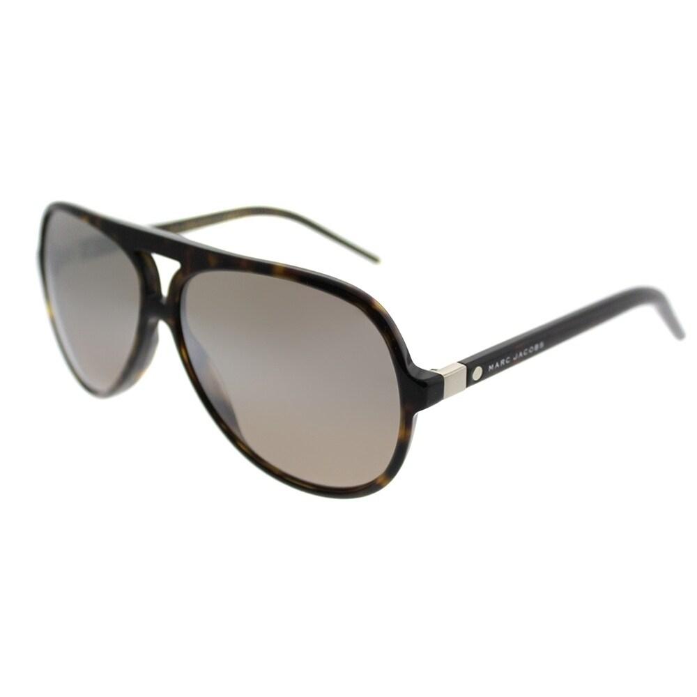 3385354c6 Marc Jacobs Aviator Marc 70 086 Unisex Dark Havana Frame Brown Mirror Lens  Sunglasses