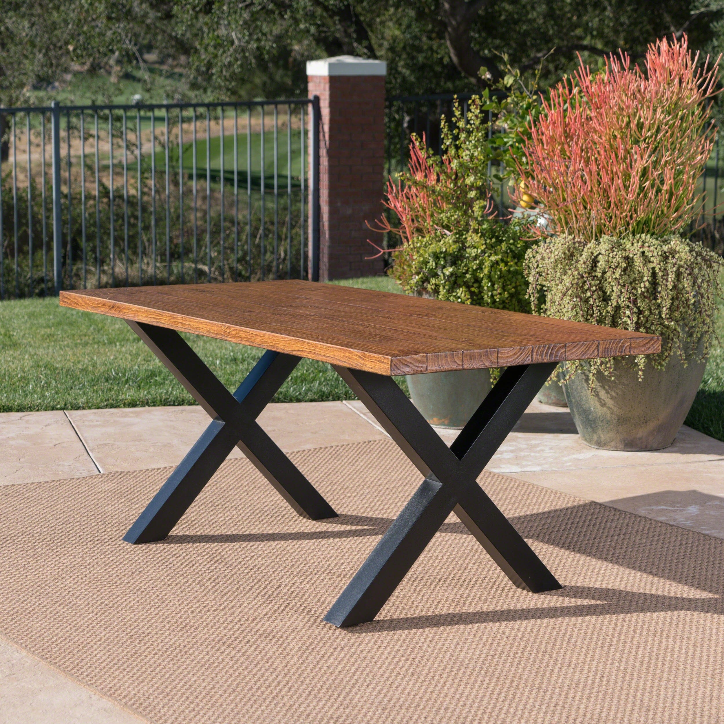 Orada Outdoor Rectangle Light Weight Concrete Dining Table By Christopher Knight Home On Free Shipping Today 20105234