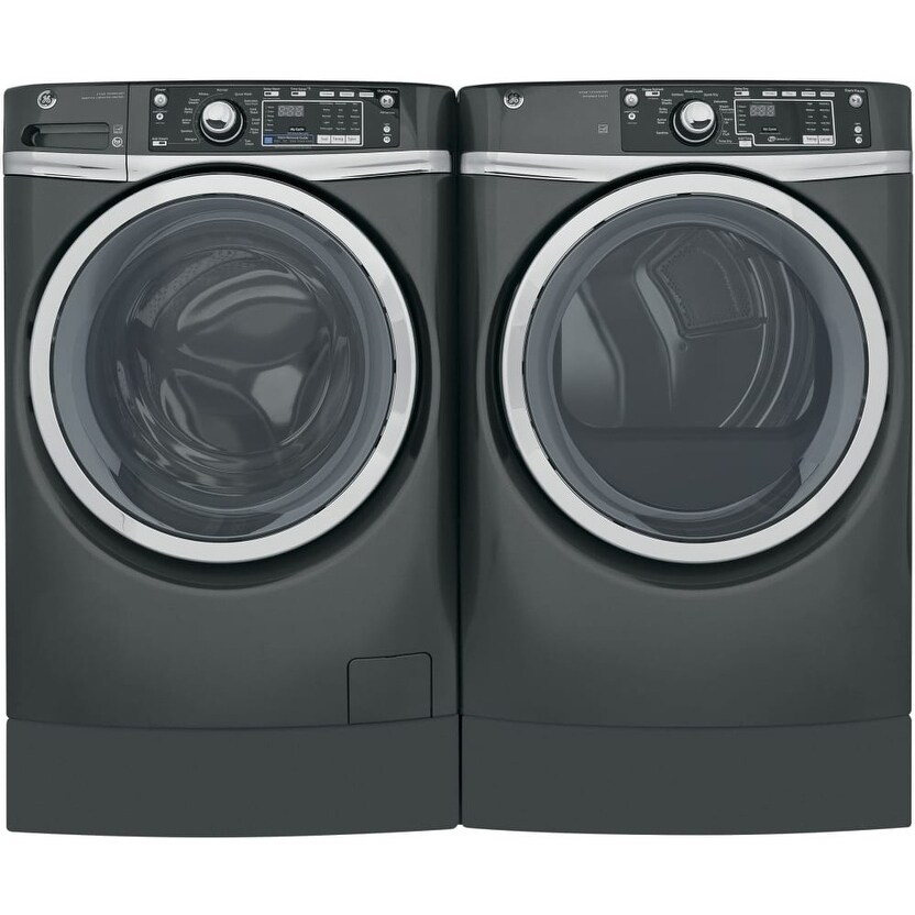 Ge Rightheight Design Series Gfd49grpkdg 28 Inch Gas Dryer And Front Load Washer Set Free Shipping Today 26006466