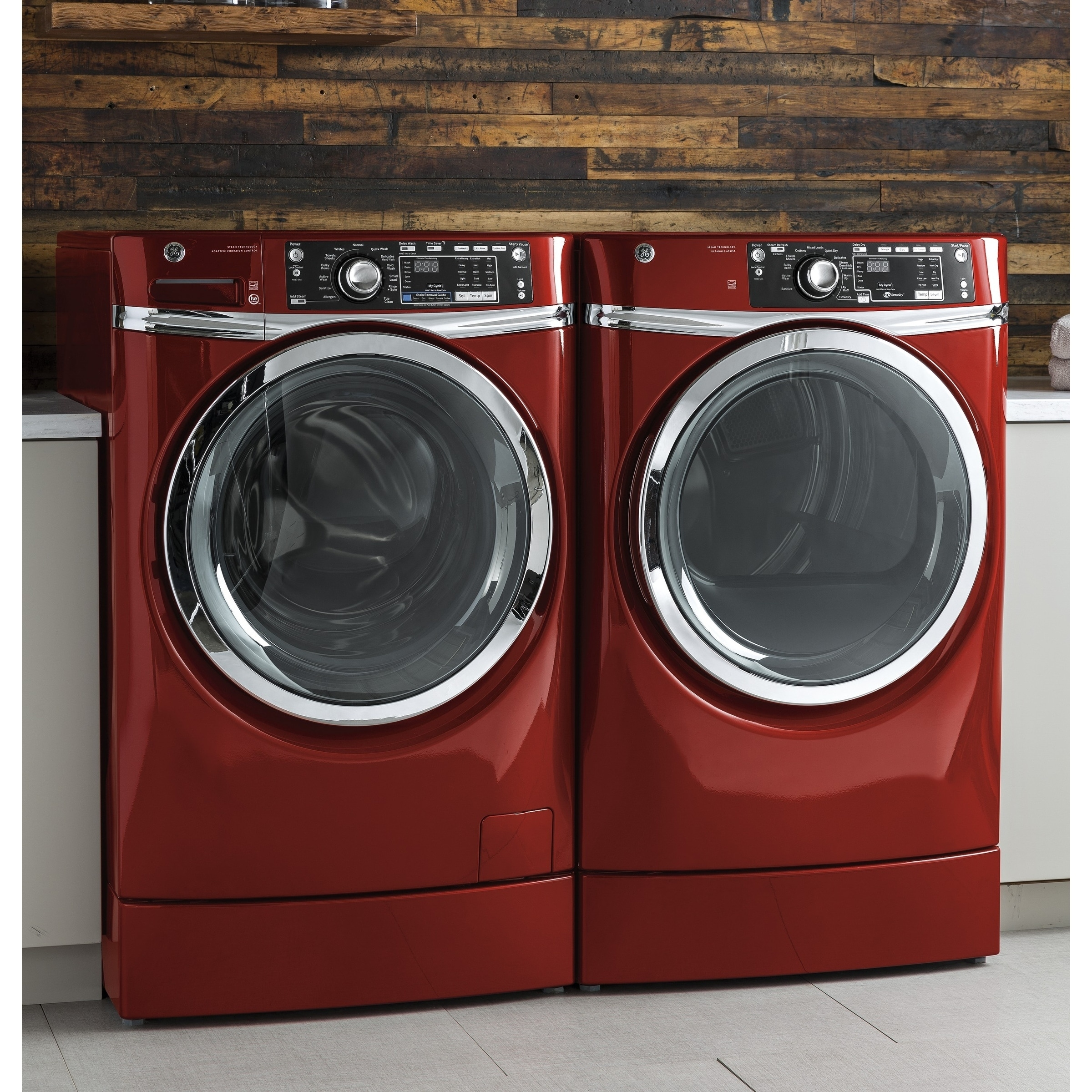 Ge Rightheight Design Series Gfd49erpkrr 28 Inch Electric Dryer And Front Load Washer Set Free Shipping Today 20105262