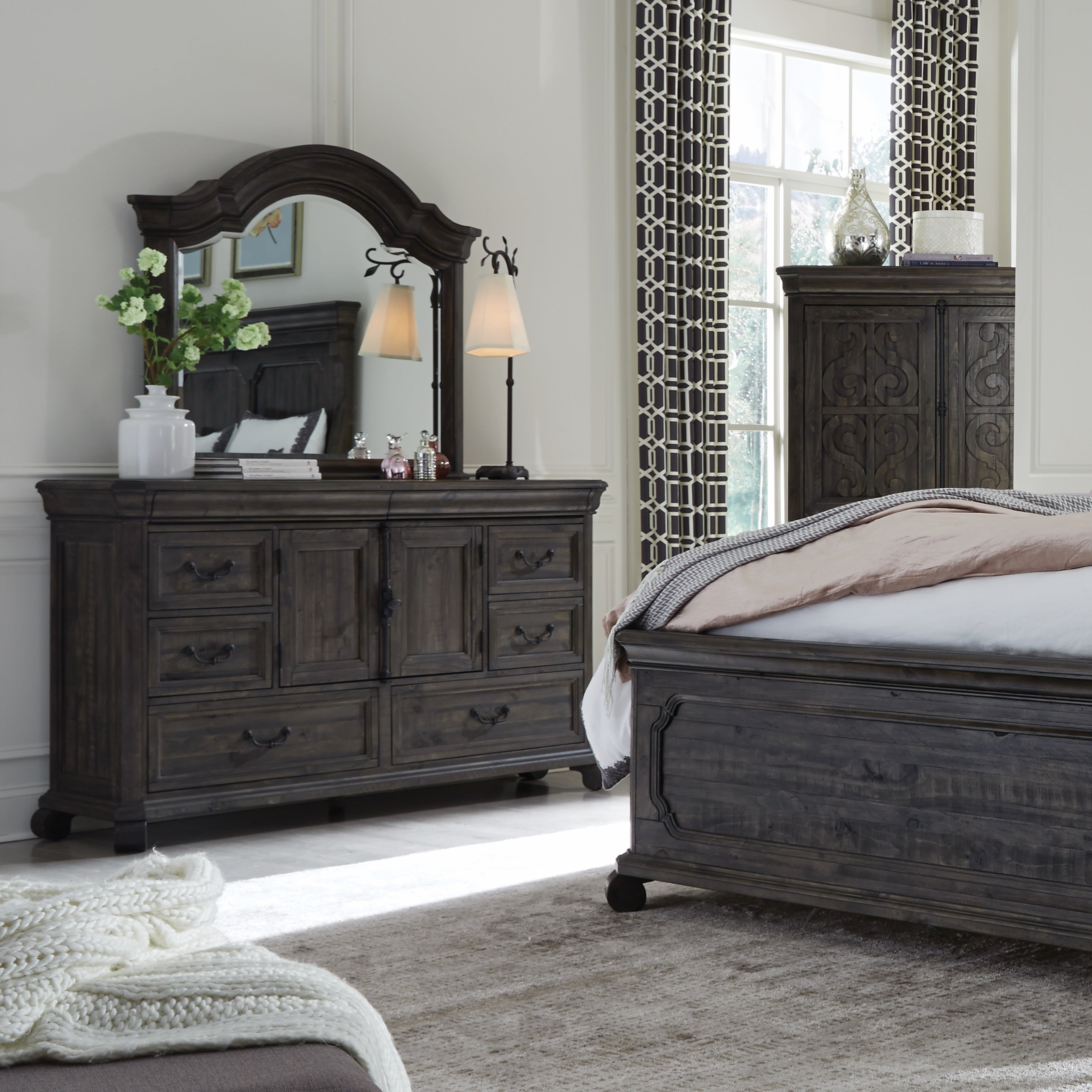 Shop bellamy traditional peppercorn 8 drawer dresser on sale free shipping today overstock com 20108333