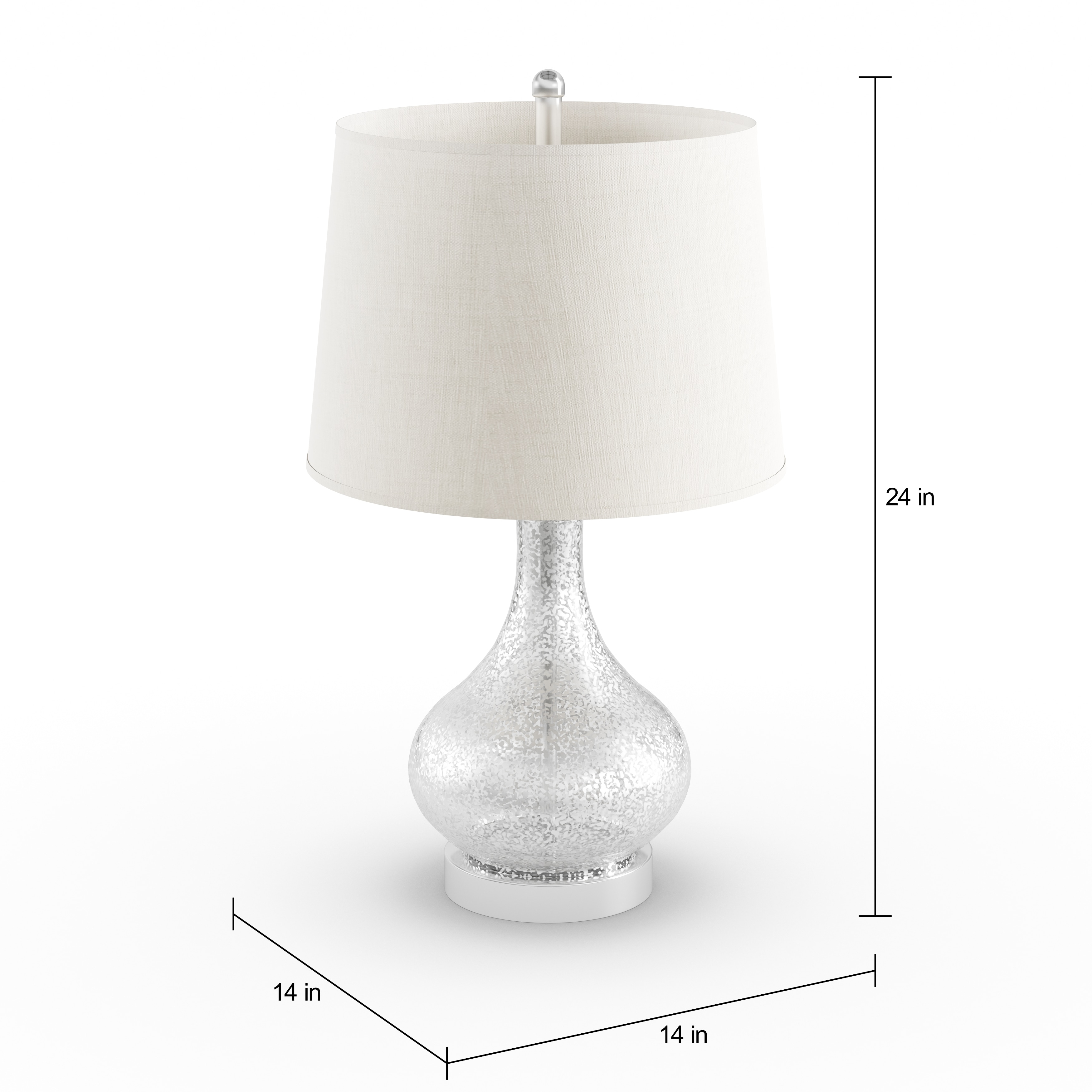 Shop palm canyon estaban brushed glass 24 inch 3 way mercury gourd shop palm canyon estaban brushed glass 24 inch 3 way mercury gourd table lamp with beige linen drum shade and bulb free shipping today overstock aloadofball