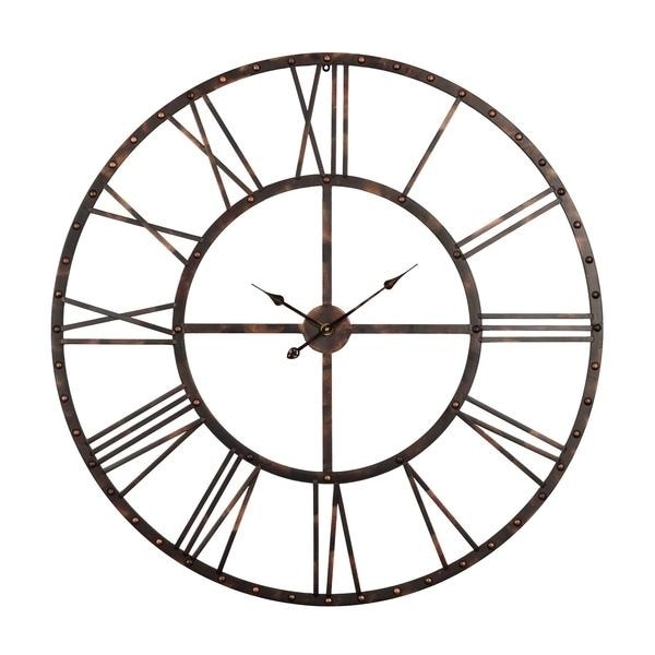 Rivet Roman Oversized Wall Clock Antique Bronze 45 In Free Shipping Today 20172092