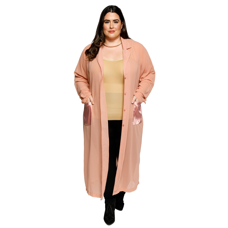 01ef308805a Shop Xehar Womens Plus Size Fashion Chiffon Duster Long Kimono Cardigan -  Free Shipping On Orders Over  45 - Overstock - 20113264