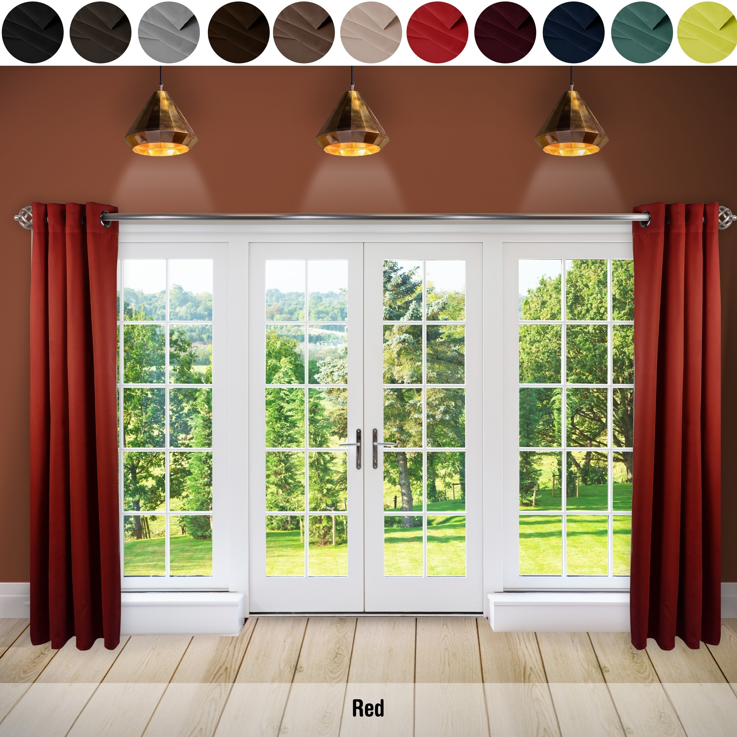 steps a hang wide swag curtain with curtains extra wikihow blackout pictures how to step