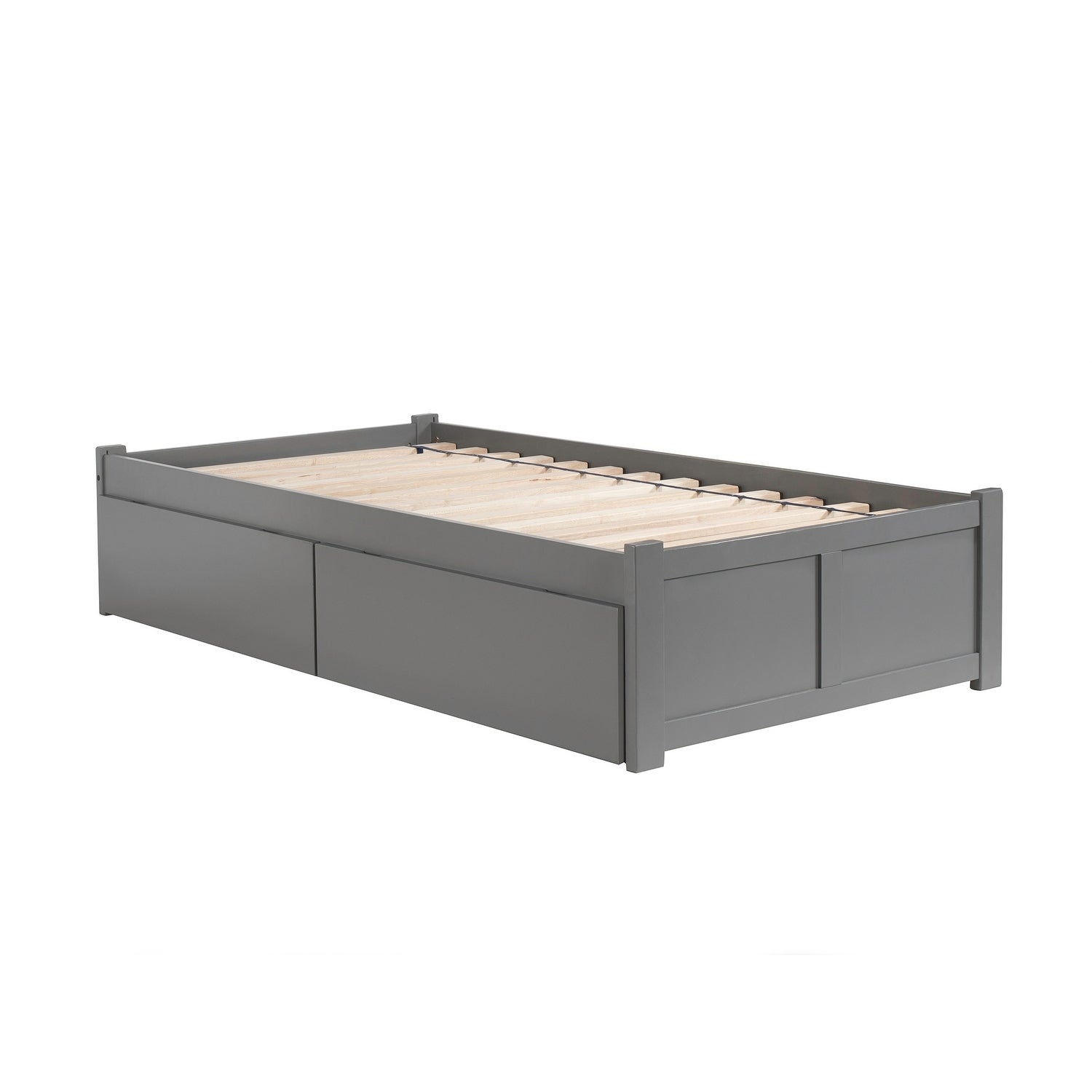 Shop Concord Twin Platform Bed With Flat Panel Foot Board And 2
