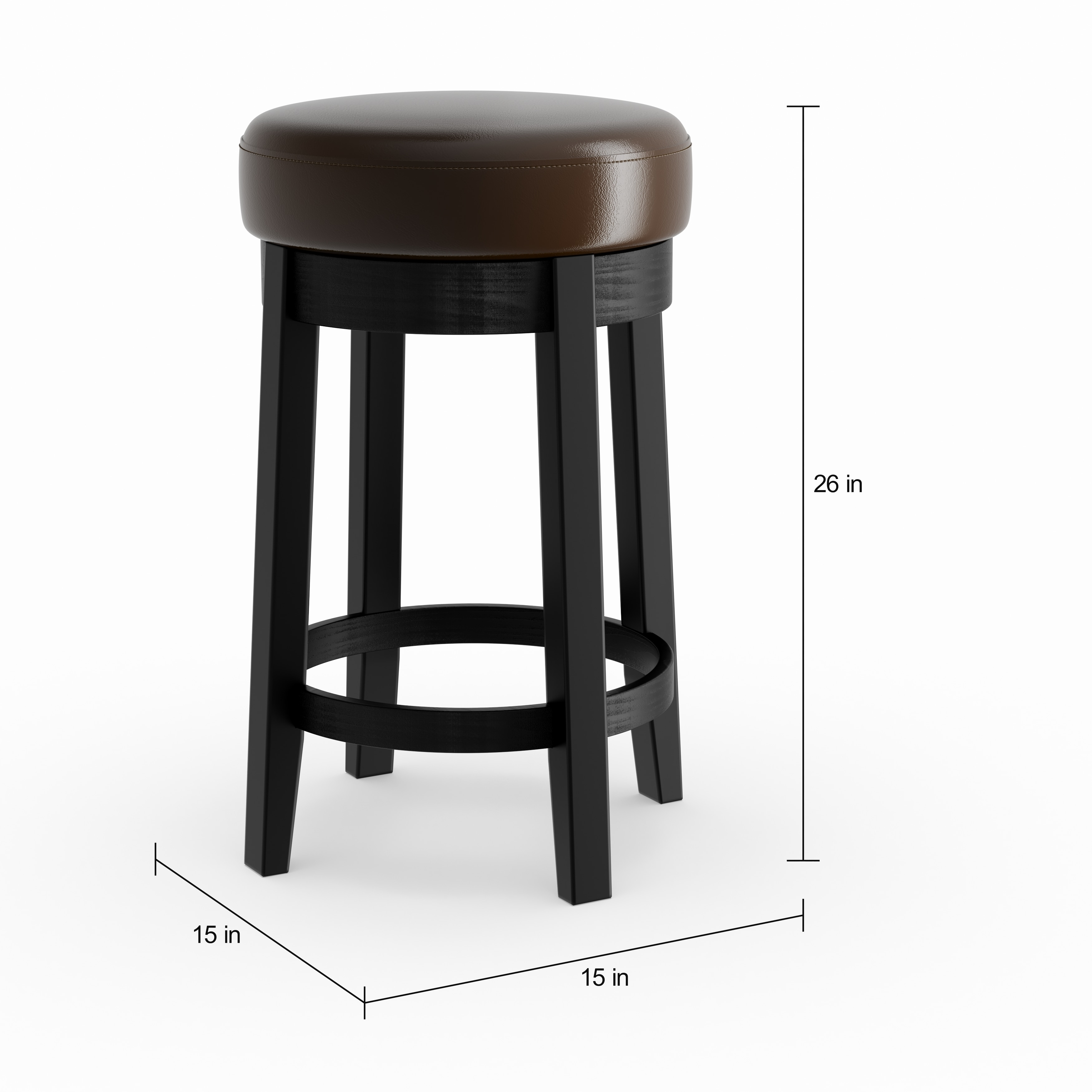 Shop Strick Bolton Ronnie Swivel 26 Inch Counter Stool Free
