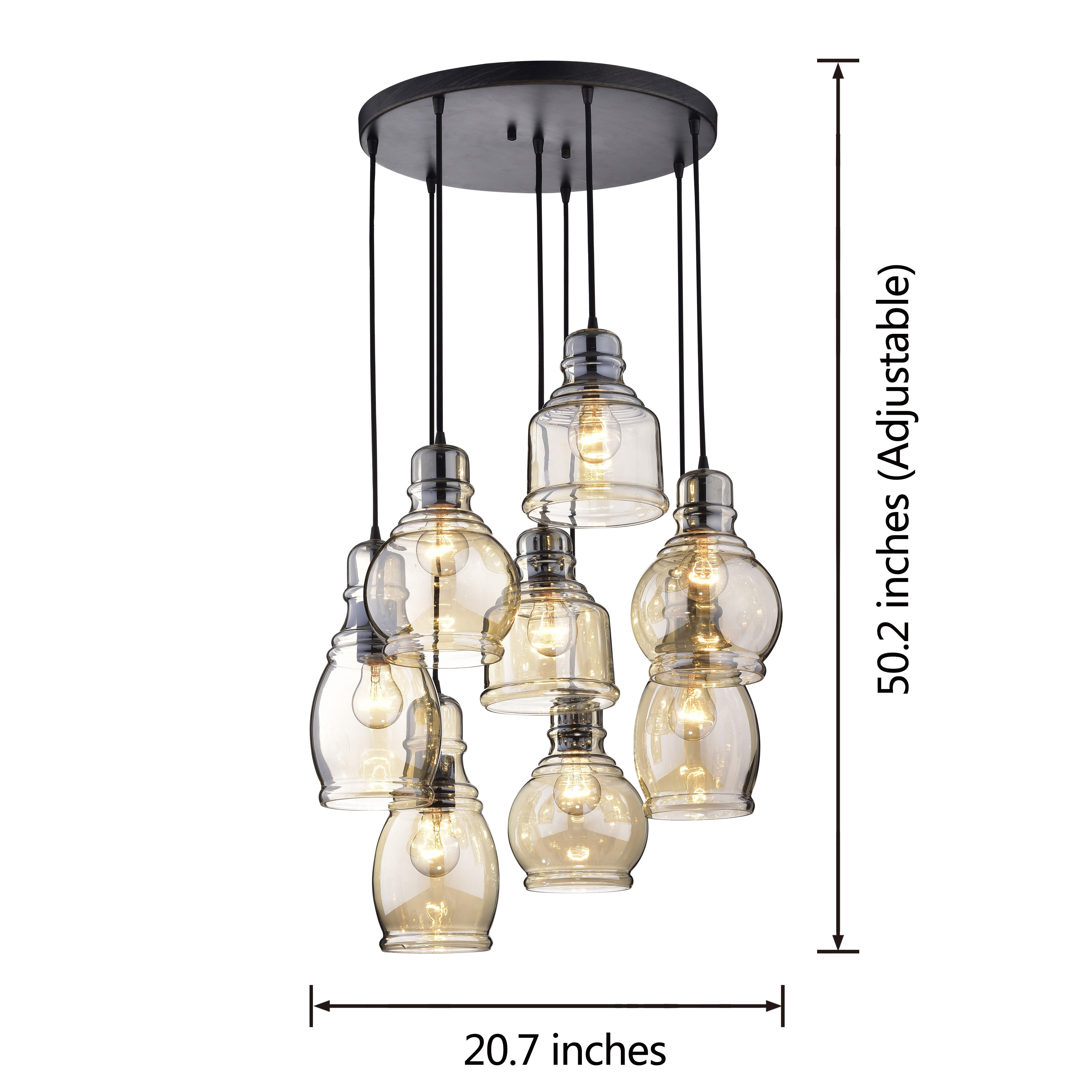 Light Chrome Crystal Chandelier Mariana Cognac Gl Cer Pendant In Antique Black Finish Free Shipping Today Com 20163267