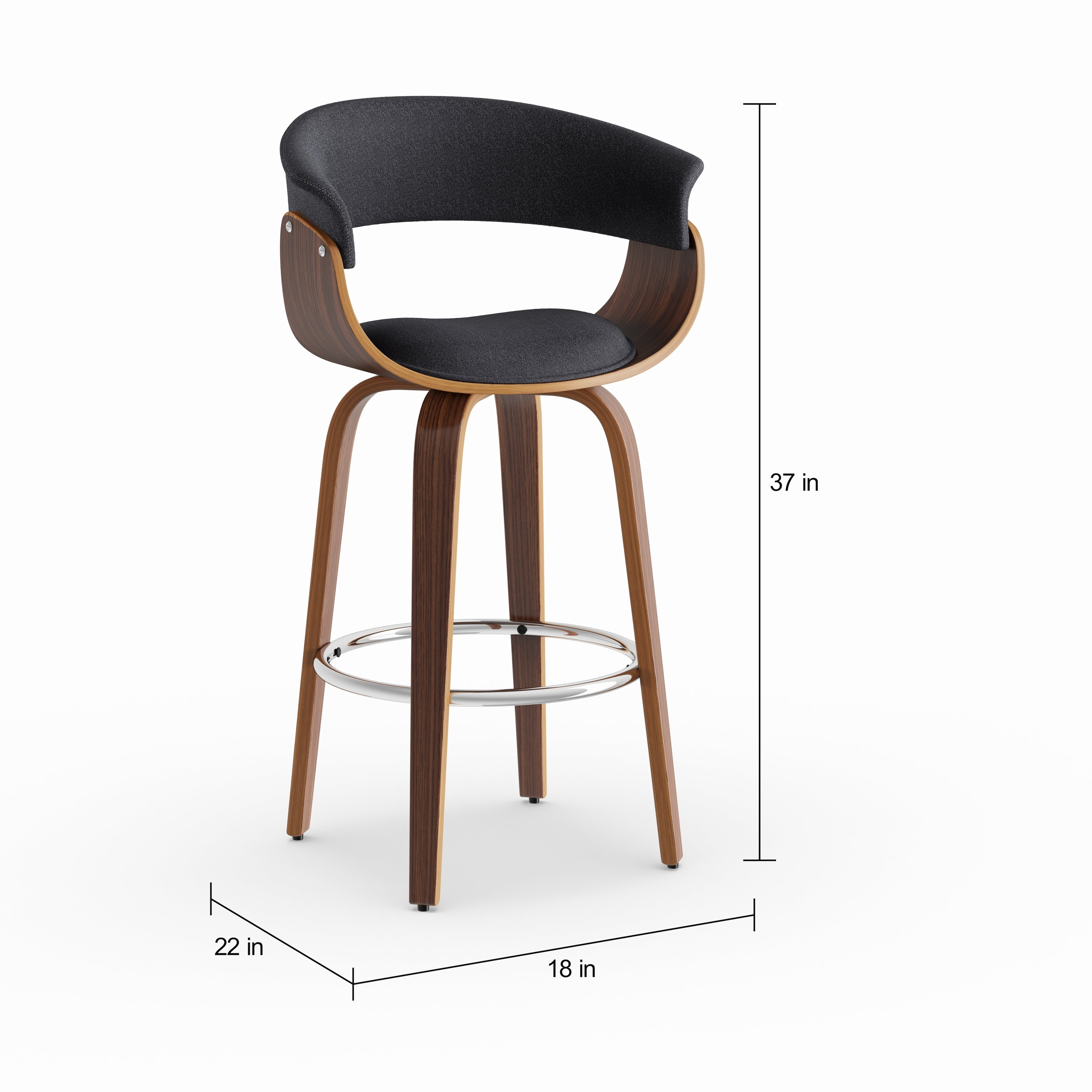 Shop Strick Bolton Gallagher Mid Century 26 Inch Counter Stool