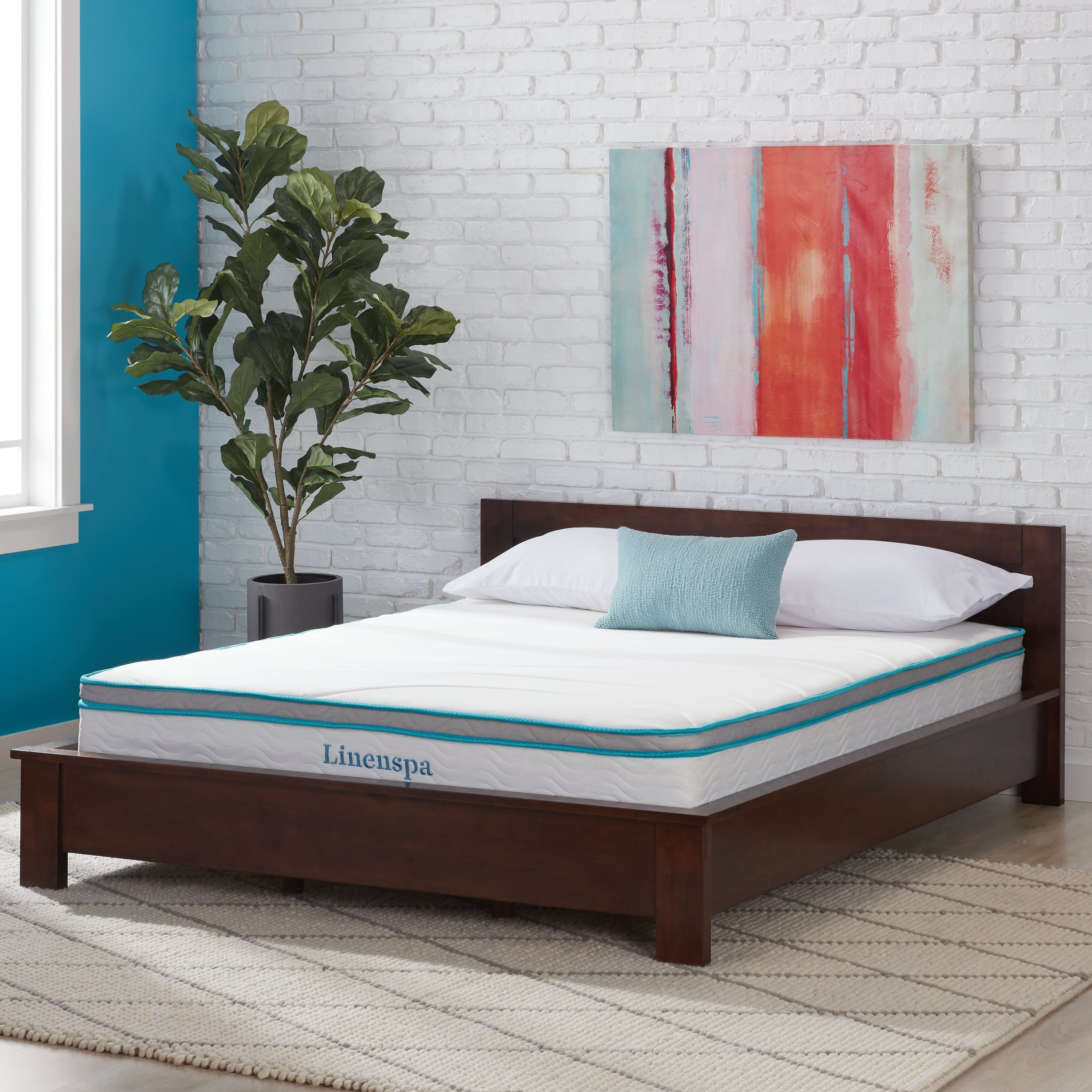 living box bedroom platform bed spring alton cherry departments for spaces beds full your size mattress furniture