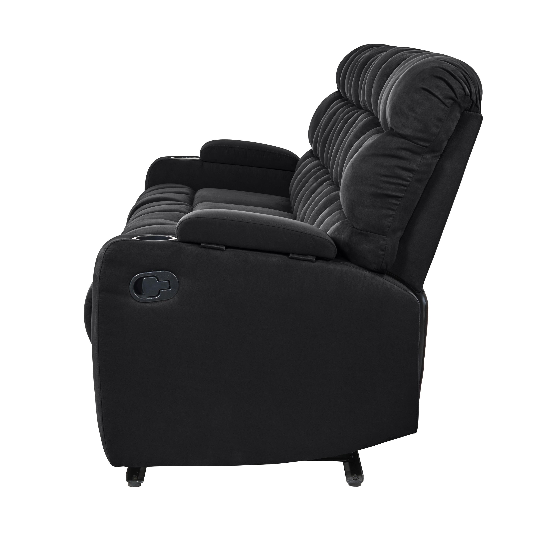 Shop Strick & Bolton Saskia Black Microfiber 4-seat Storage ...