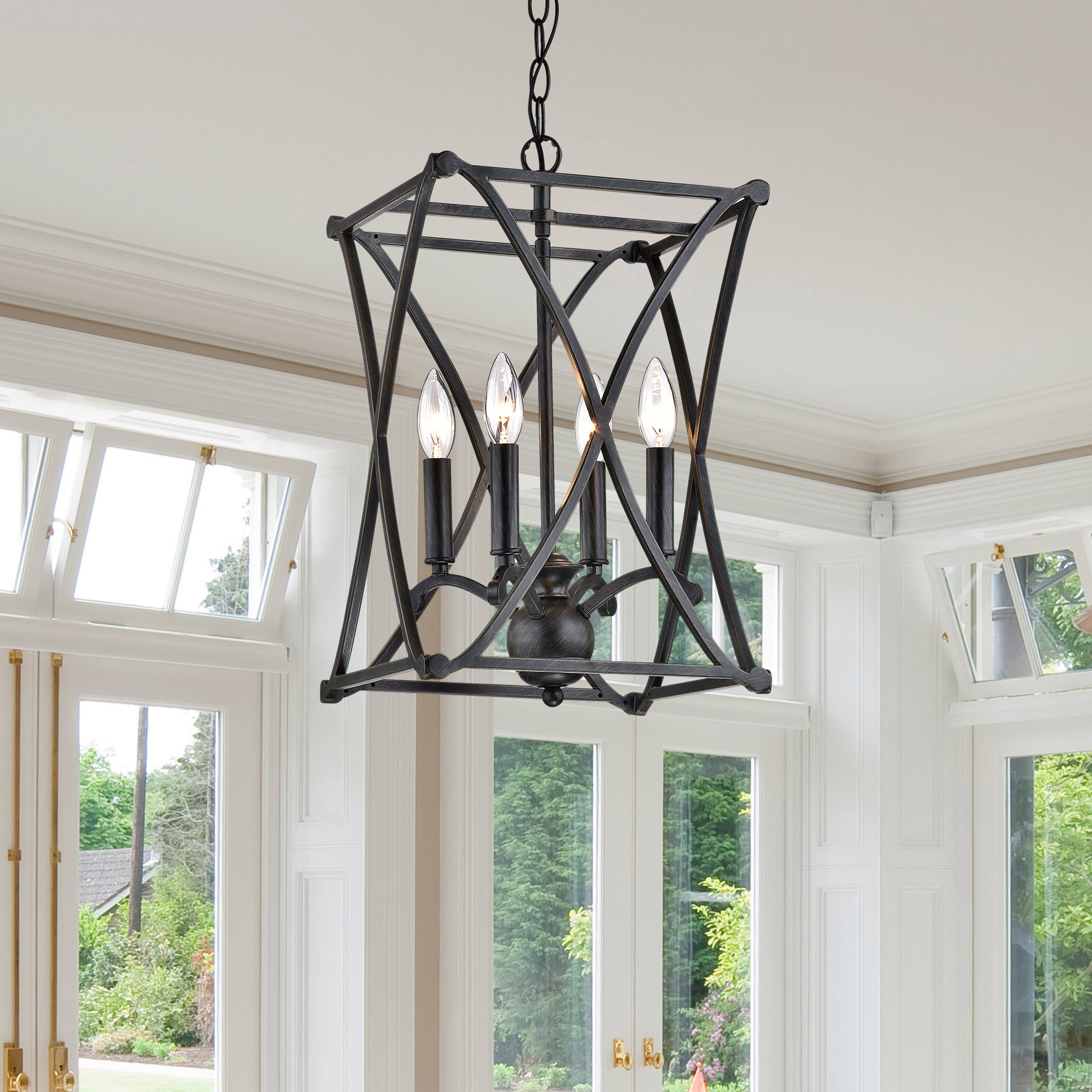 Shop the gray barn inyo antique black iron chandelier on sale free shipping today overstock com 20133376